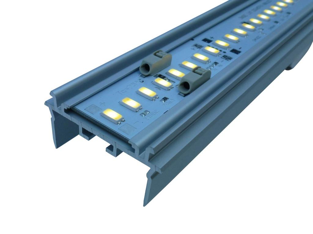1 Stk KVADRA 70 M HI LED 50W 840 7100lm, L-1490mm, DALI, eloxiert LI35000135