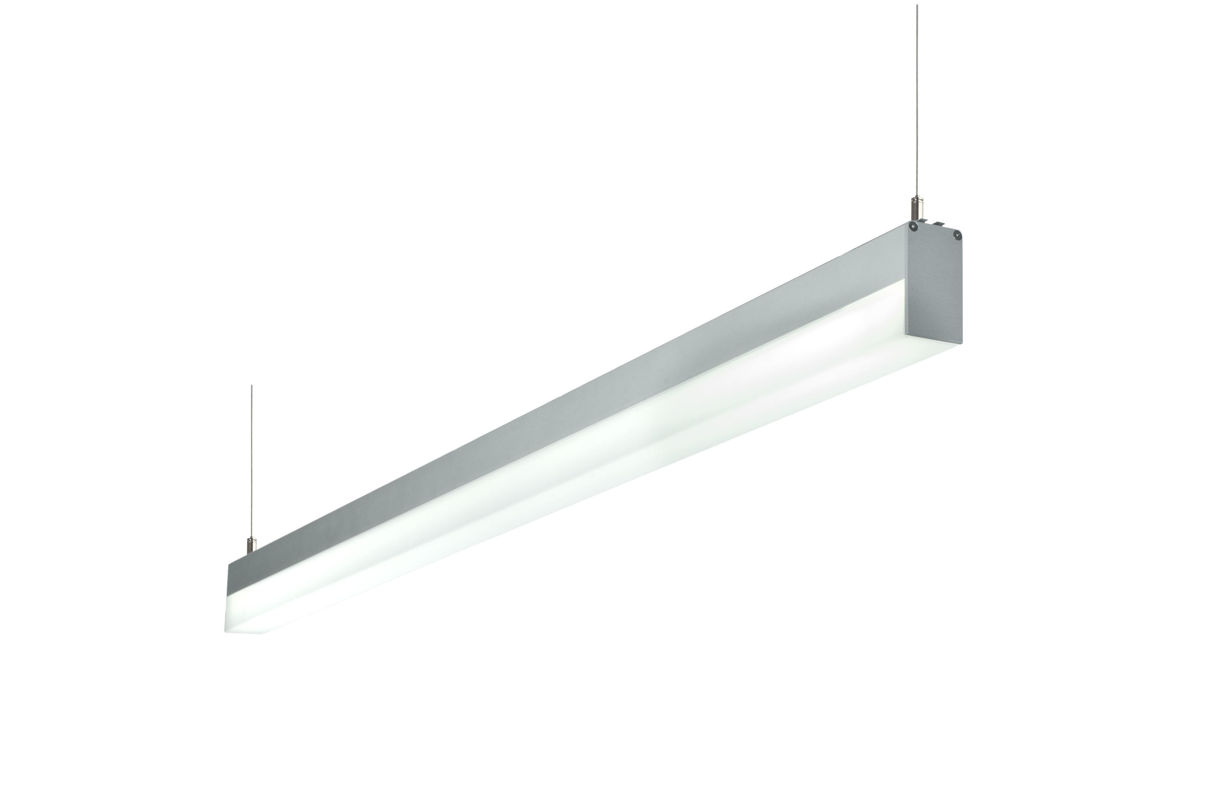 1 Stk LUCIE 1x21W EVG Lichtleiste, hohe opale Abdeckung, eloxiert LI38000011