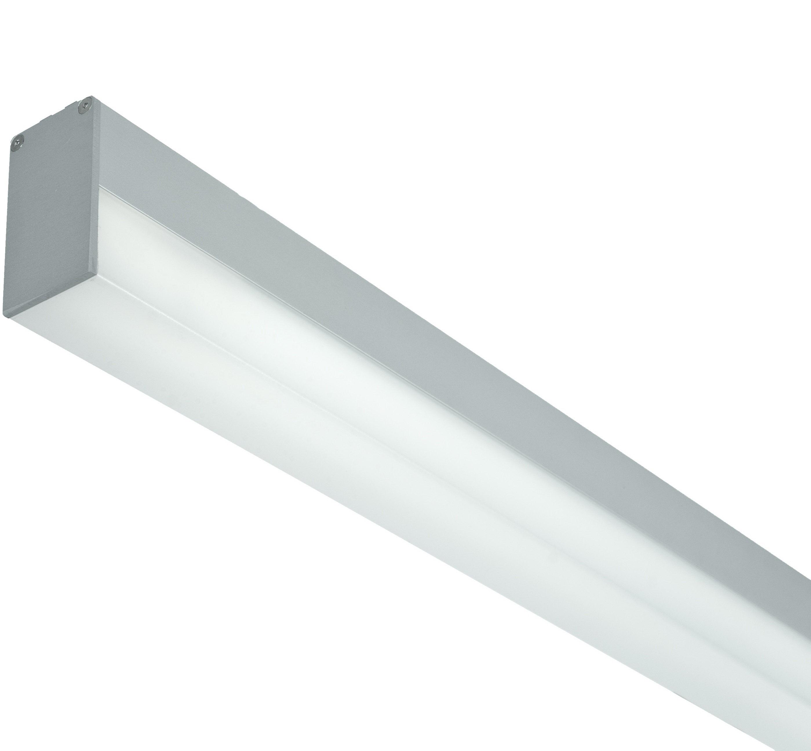 1 Stk LUCIE 1x28W EVG Lichtleiste, hohe opale Abdeckung, eloxiert LI38000012