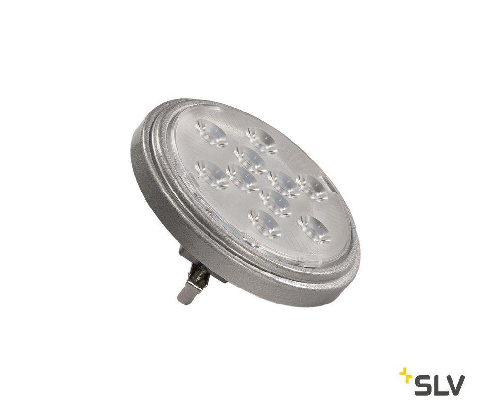 1 Stk LED QR111 G53 Leuchtmittel, 13°, silvergrey, 2700K, 800lm  LI560622--