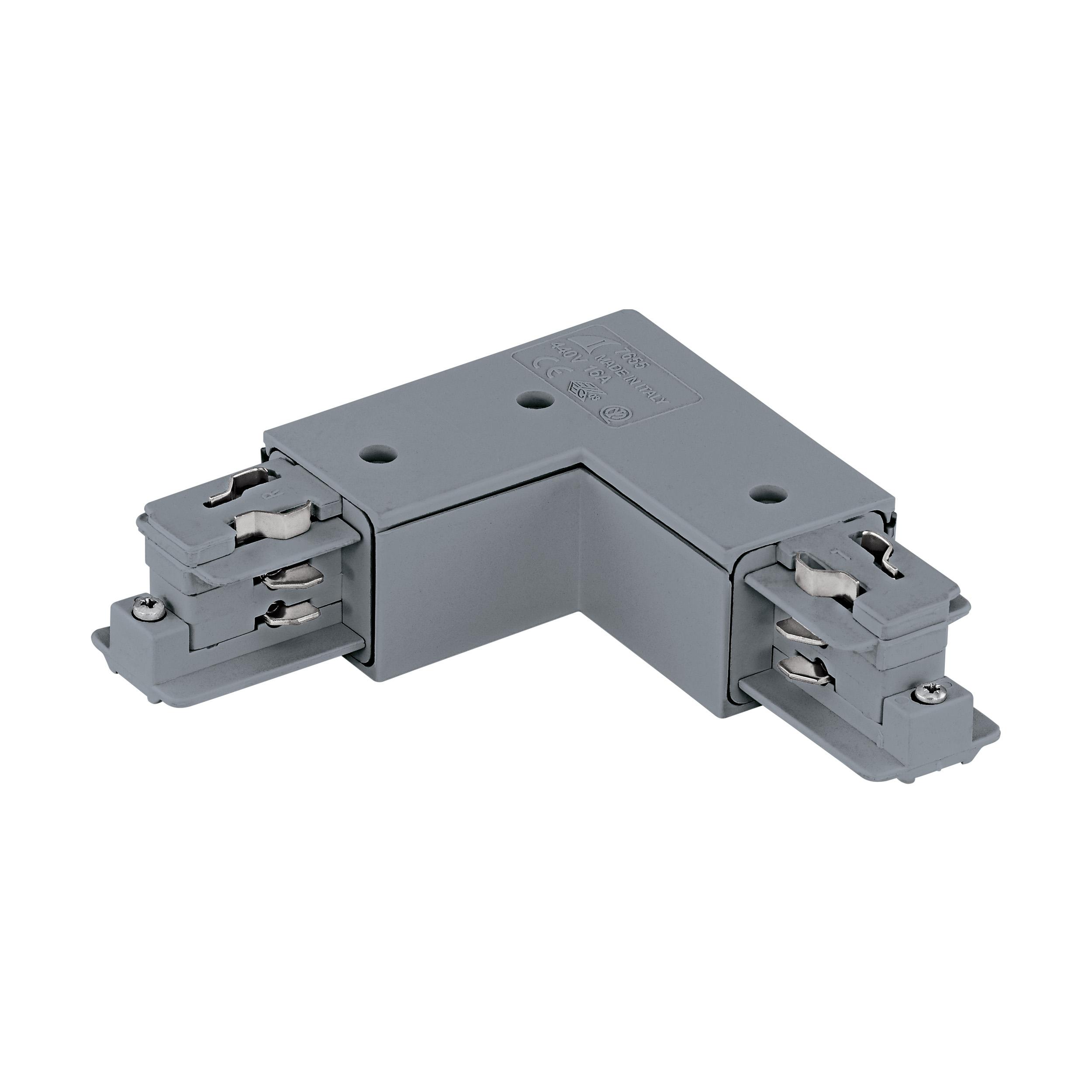 1 Stk 3-Phasen 90° Verbinder Aufbau, Kunststoff, außen; silber LI60116---