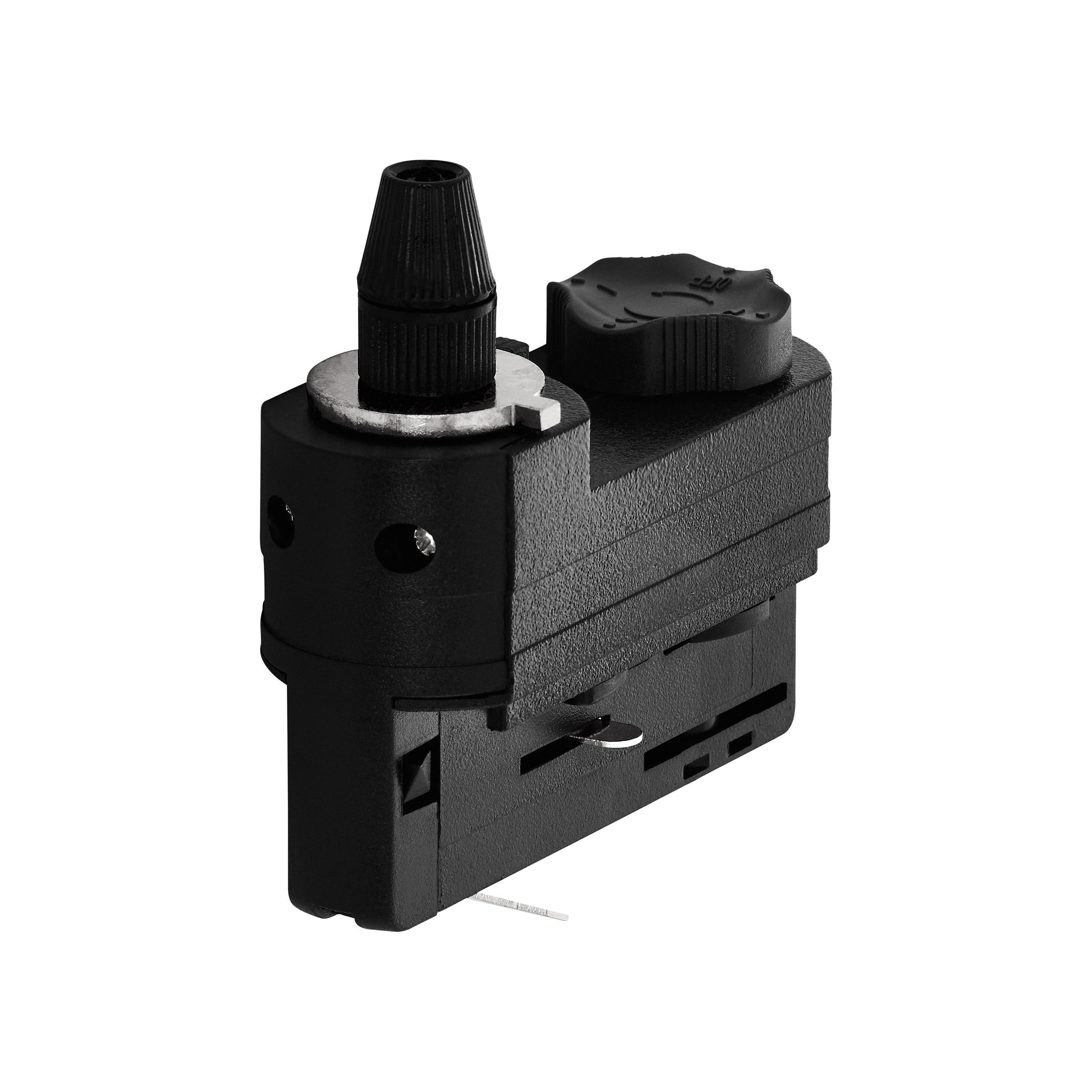 1 Stk 3-Phasen Adapter mit Zugentlastung schwarz Kunststoff LI60614---