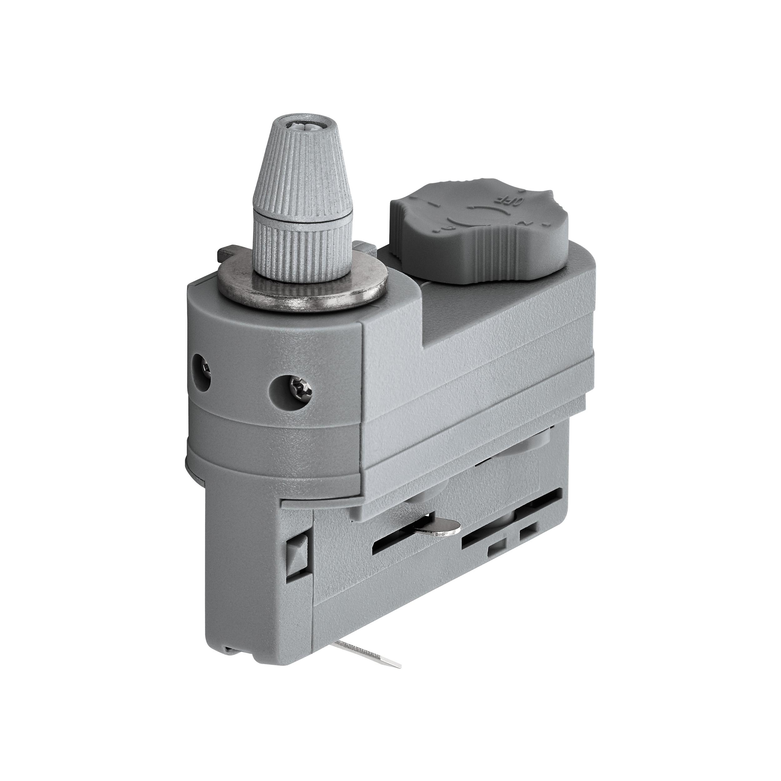 1 Stk 3-Phasen Adapter mit Zugentlastung silber Kunststoff LI60615---