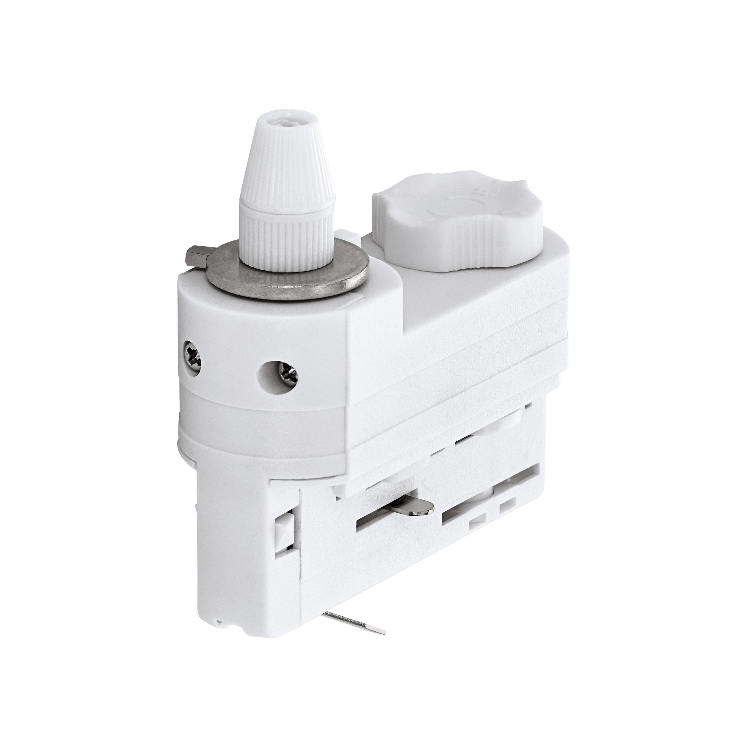 1 Stk 3-Phasen Adapter mit Zugentlastung weiß Kunststoff LI60616---