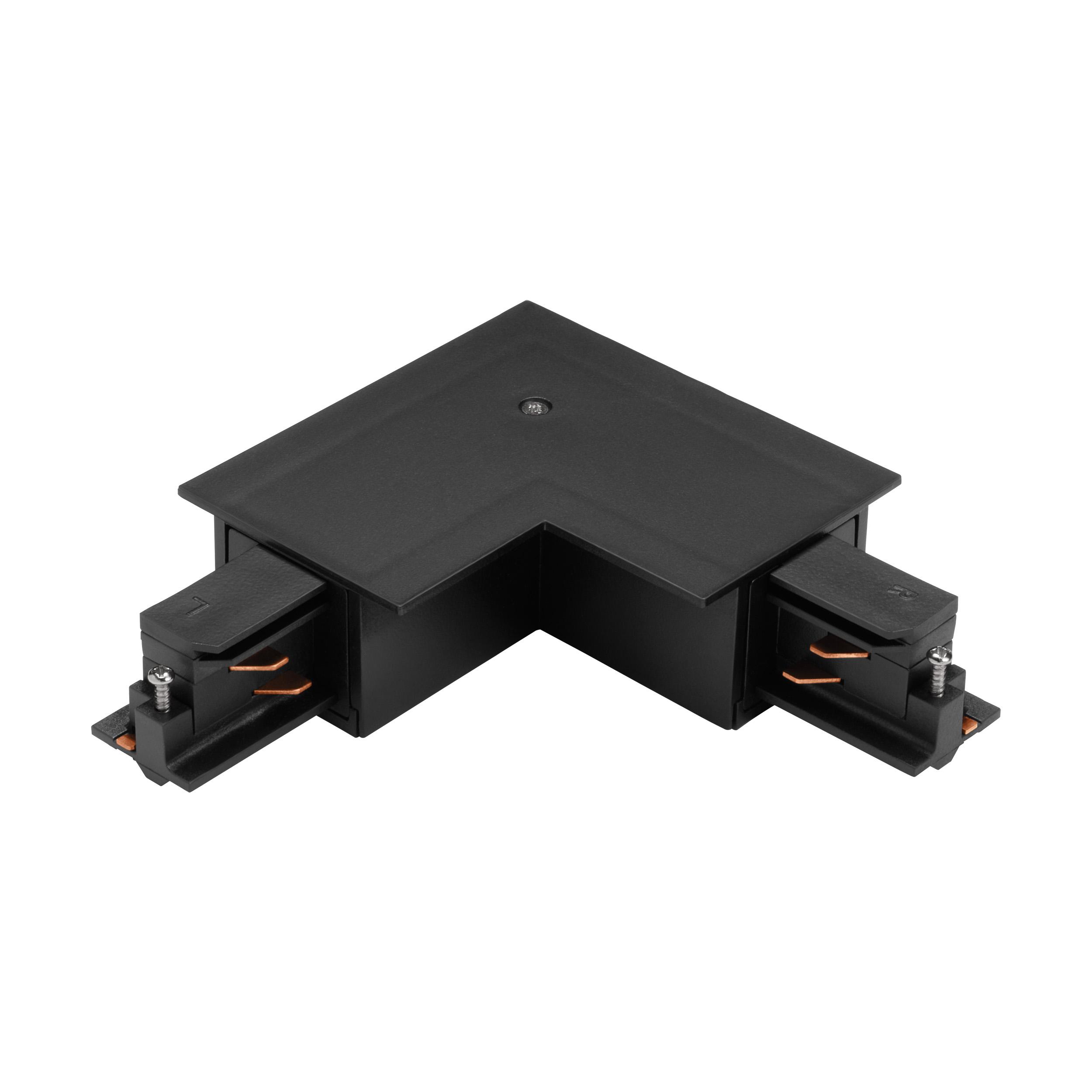 1 Stk 3-Phasen 90° Verbinder Einbau schwarz, Kunststoff, außen LI60743---