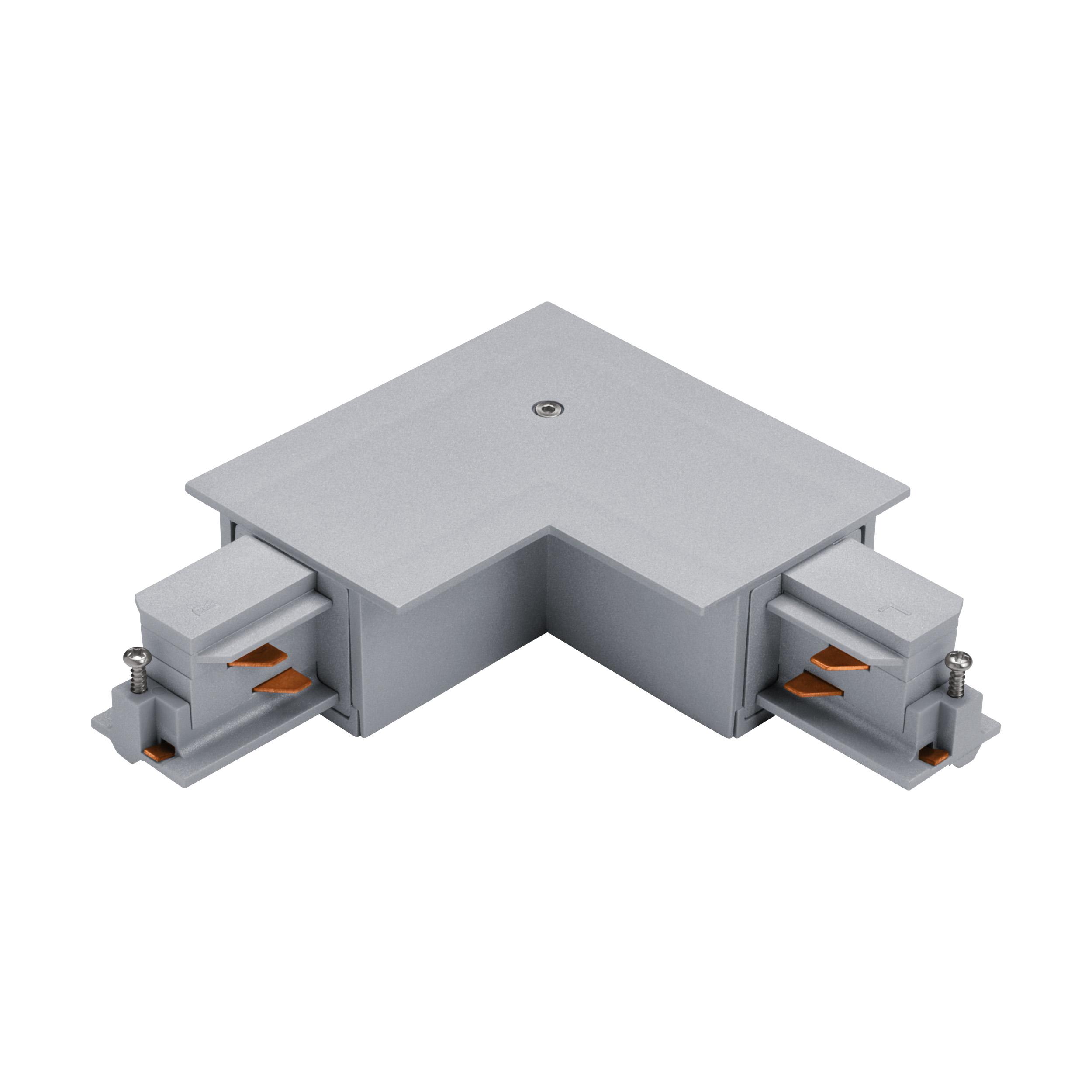 1 Stk 3-Phasen 90° Verbinder Einbau silber, Kunststoff, außen LI60753---