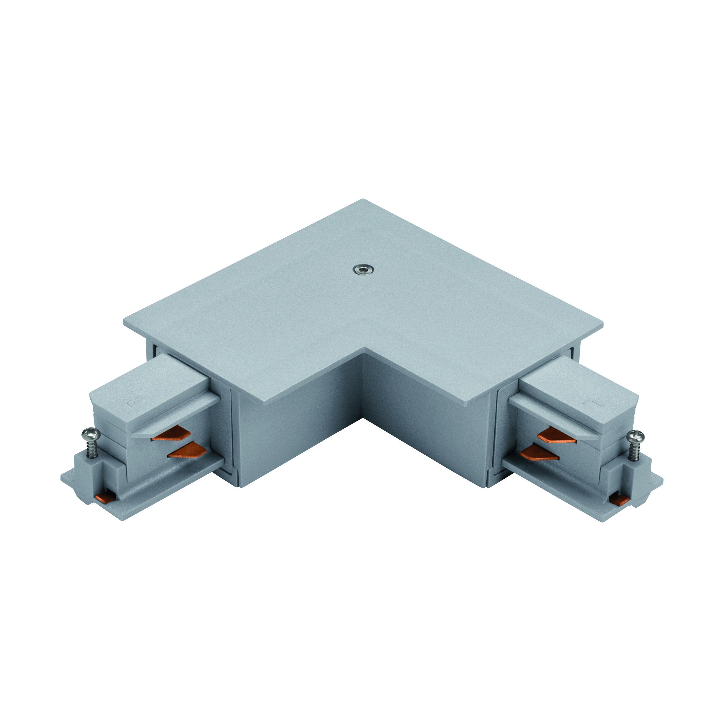 1 Stk 3-Phasen 90° Verbinder Einbau silber, Kunststoff, innen LI60754---