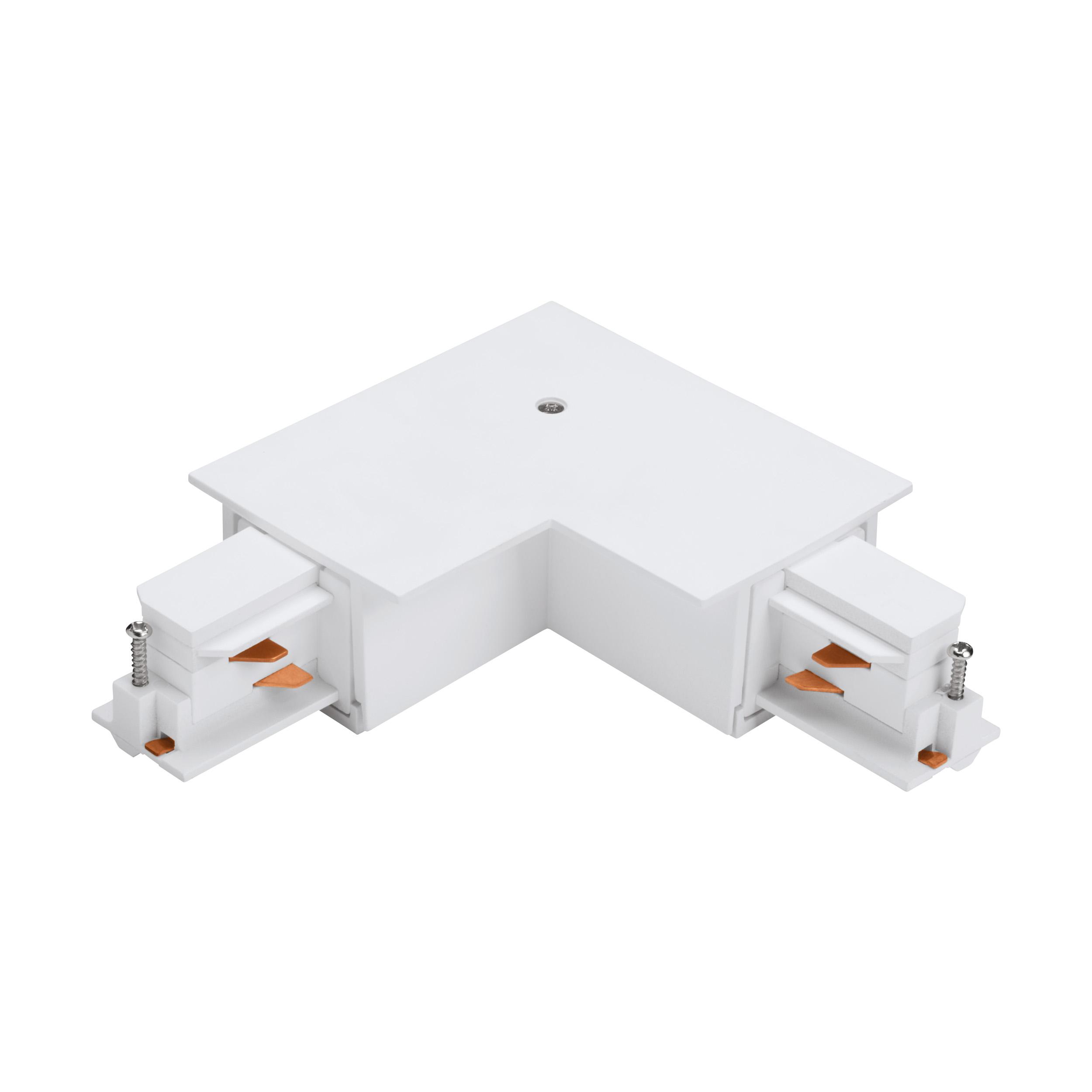 1 Stk 3-Phasen 90° Verbinder Einbau weiß, Kunststoff, außen LI60763---
