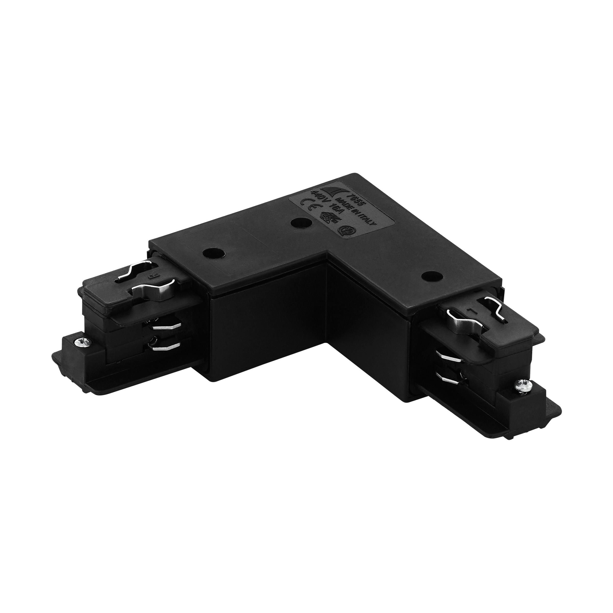 1 Stk 3-Phasen 90° Verbinder schwarz Aufbau, Kunststoff, außen LI60773---