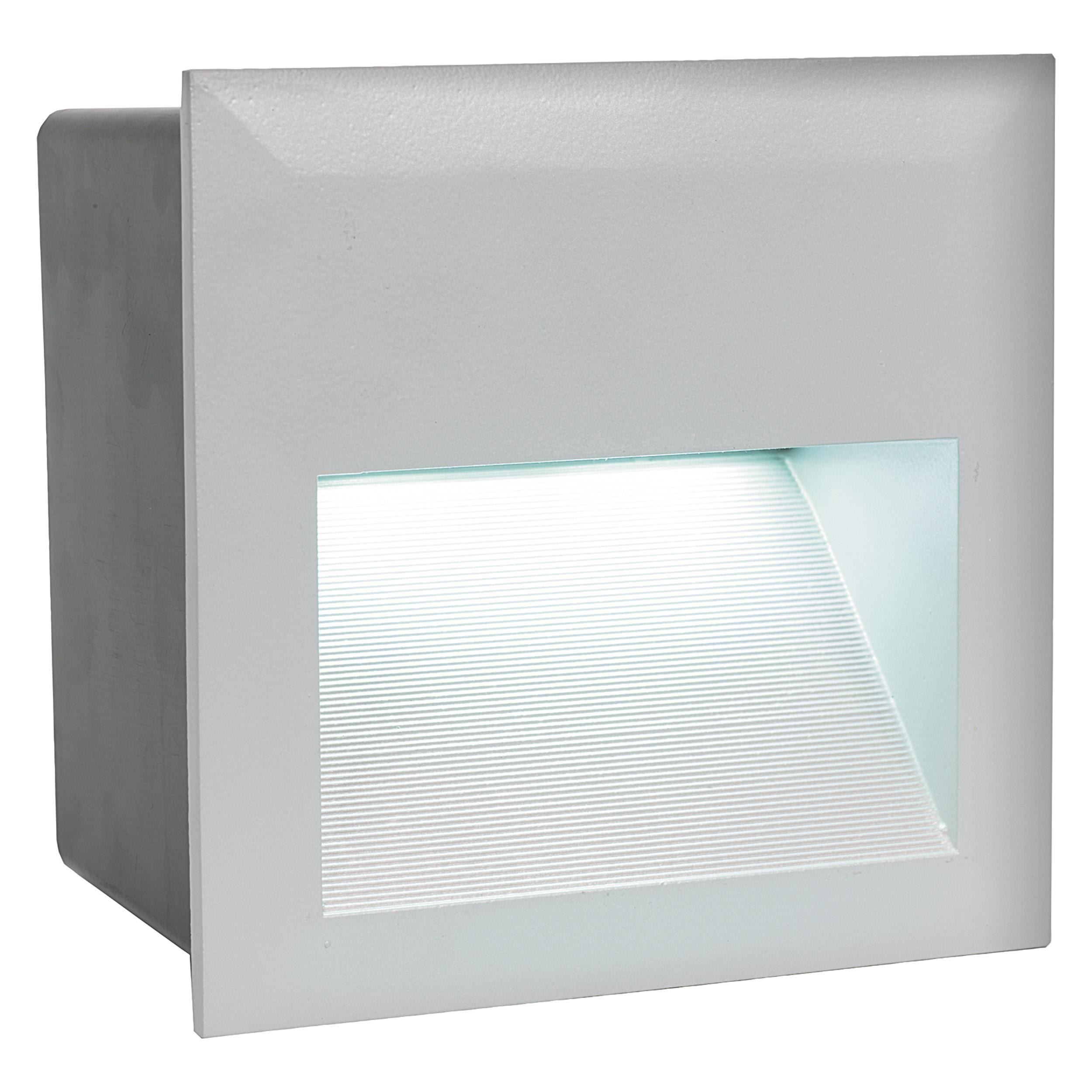 1 Stk Wandeinbauleuchte Zimba-LED 3,7W 4000K silber IP65 LI61766---