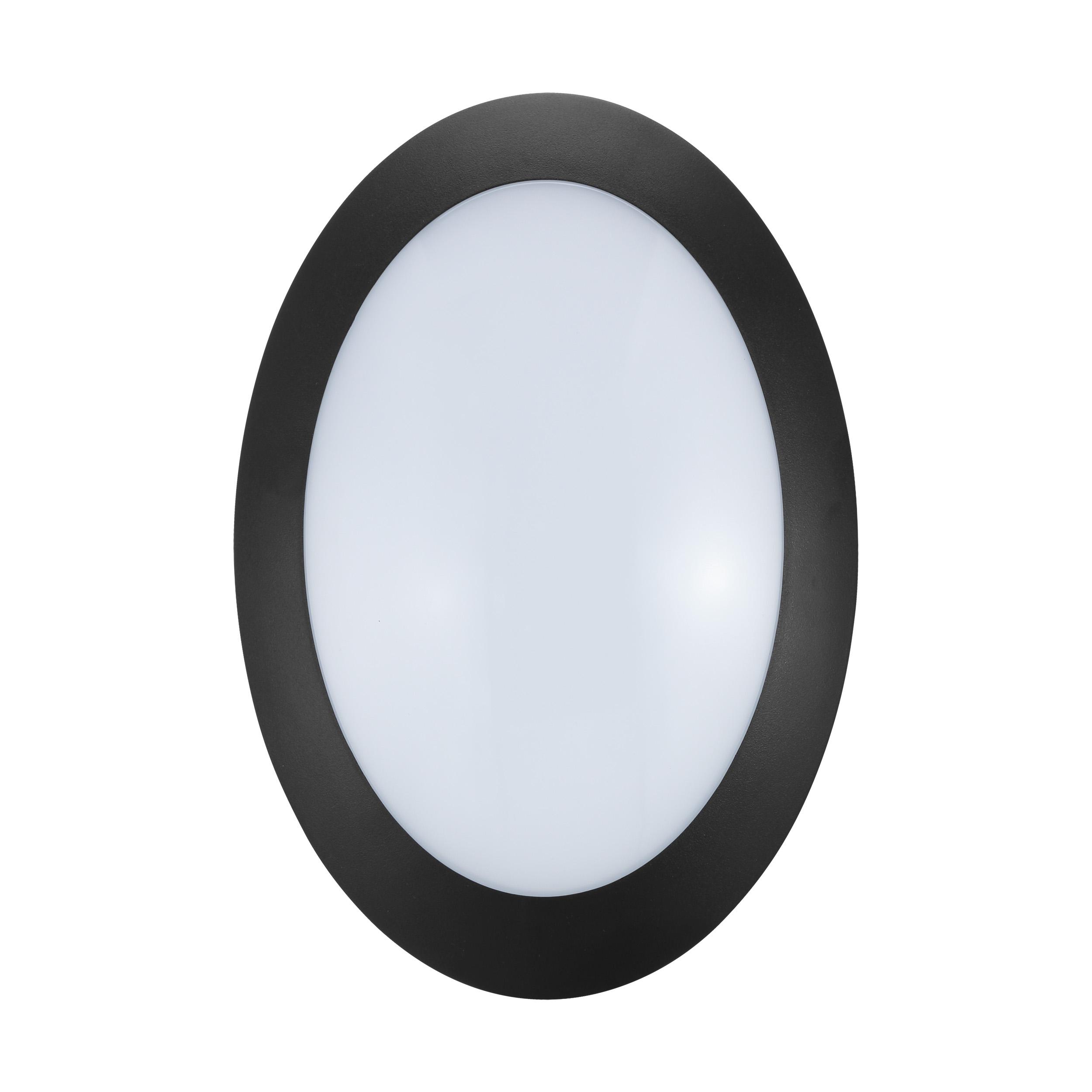 1 Stk Bellaria Wandaufbauleuchte oval 6W 3000K schwarz IP66 LI62212---