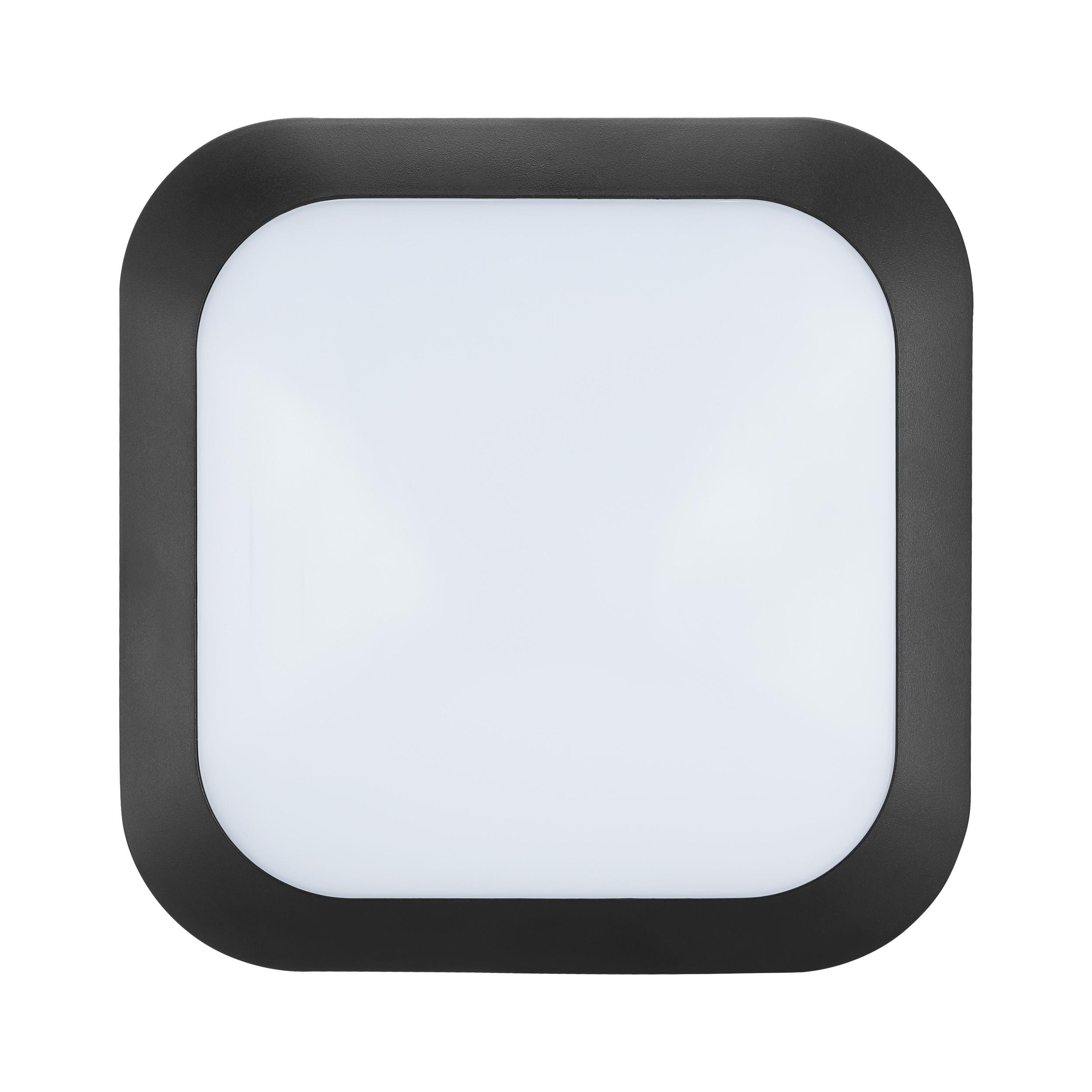 1 Stk Bellaria Wandaufbauleuchte quadratisch 12W 4000K schwarz LI62227---