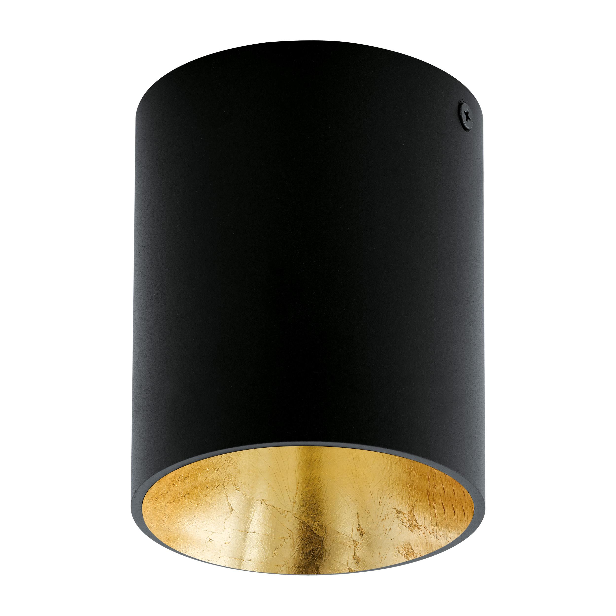 1 Stk Deckenleuchte Polasso rund 35W schwarz / gold IP20 LI62252---
