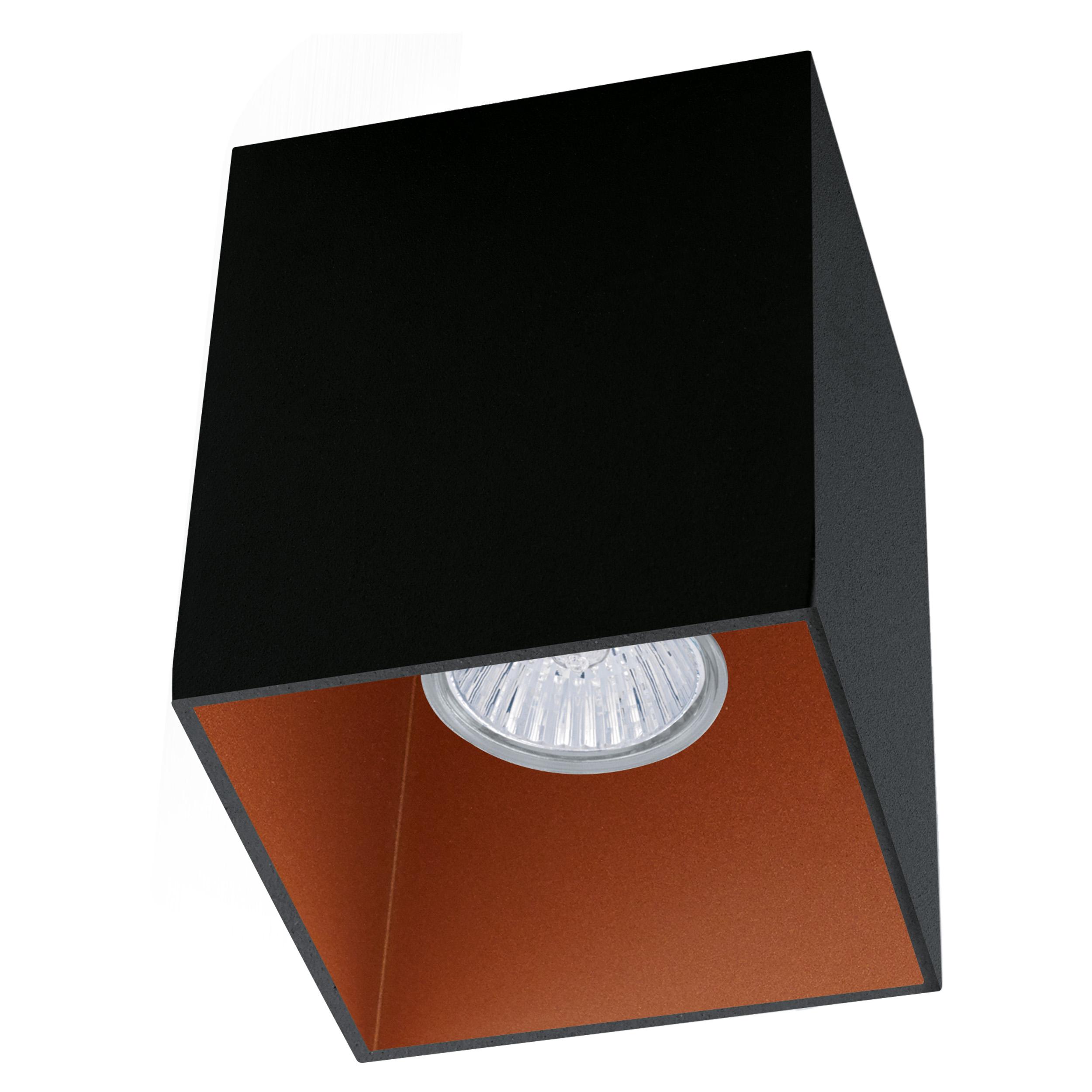1 Stk Deckenleuchte Polasso eckig 35W schwarz / kupfer IP20 LI62257---