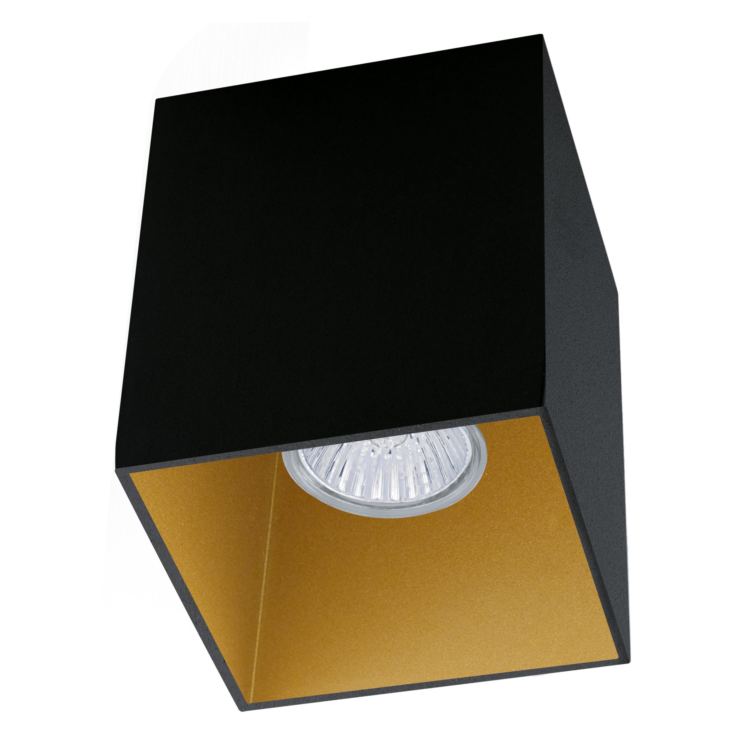 1 Stk Deckenleuchte Polasso eckig 35W schwarz / gold IP20 LI62258---