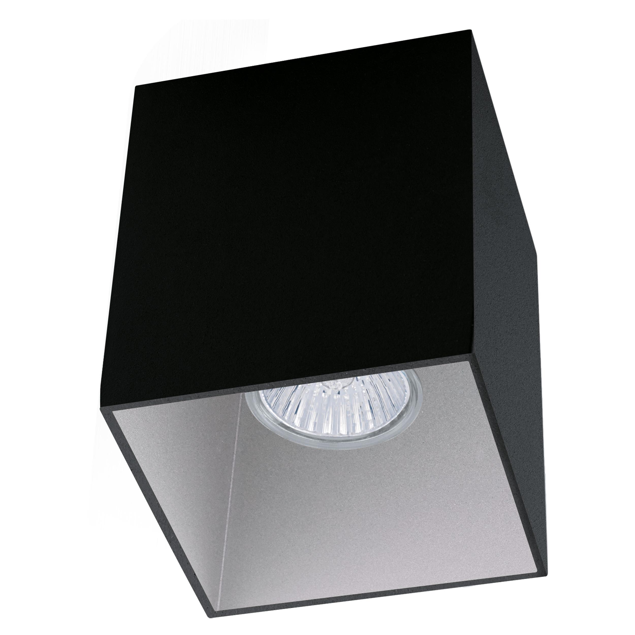 1 Stk Deckenleuchte Polasso eckig 35W schwarz / silber IP20 LI62259---