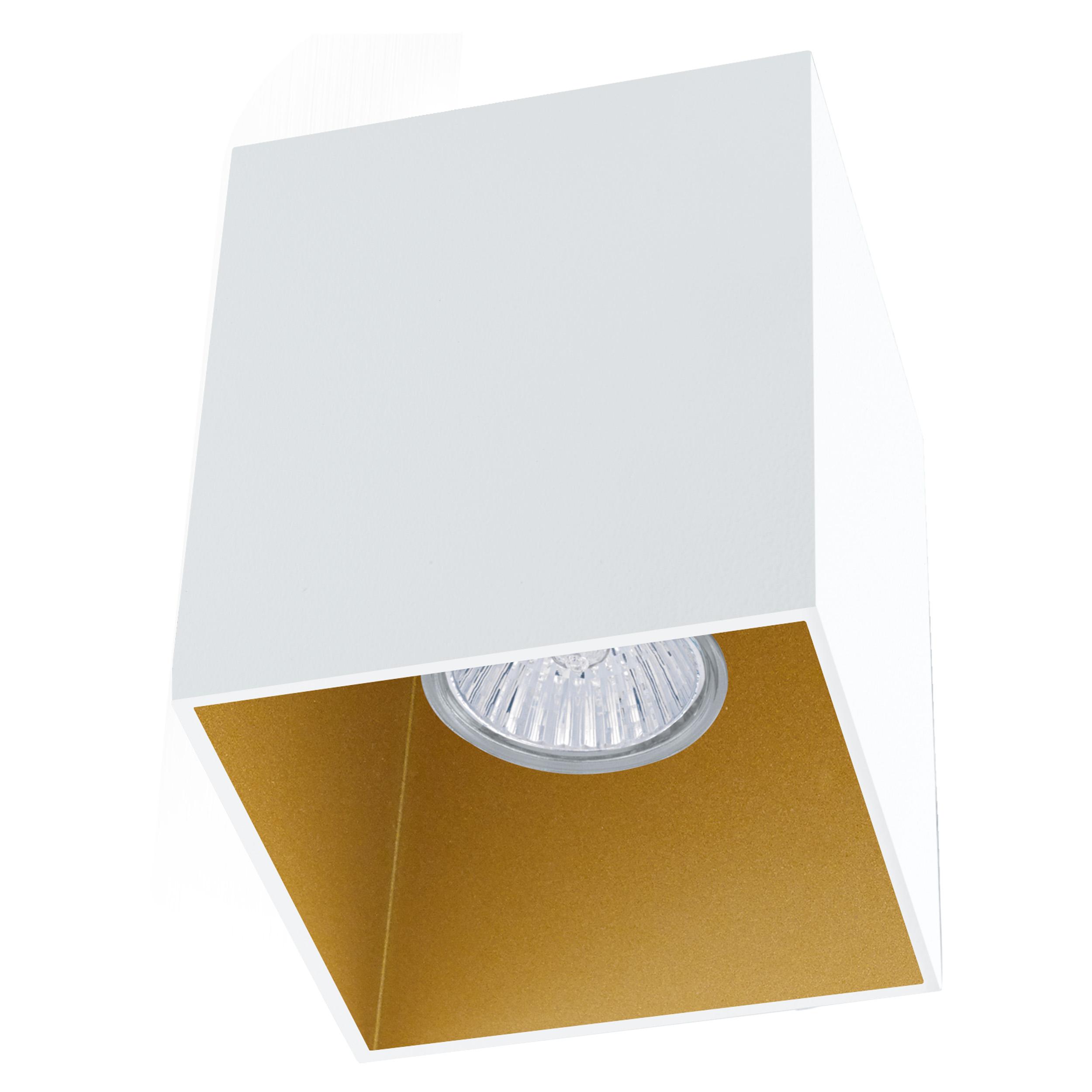 1 Stk Deckenleuchte Polasso eckig 35W weiß / gold IP20 LI62262---