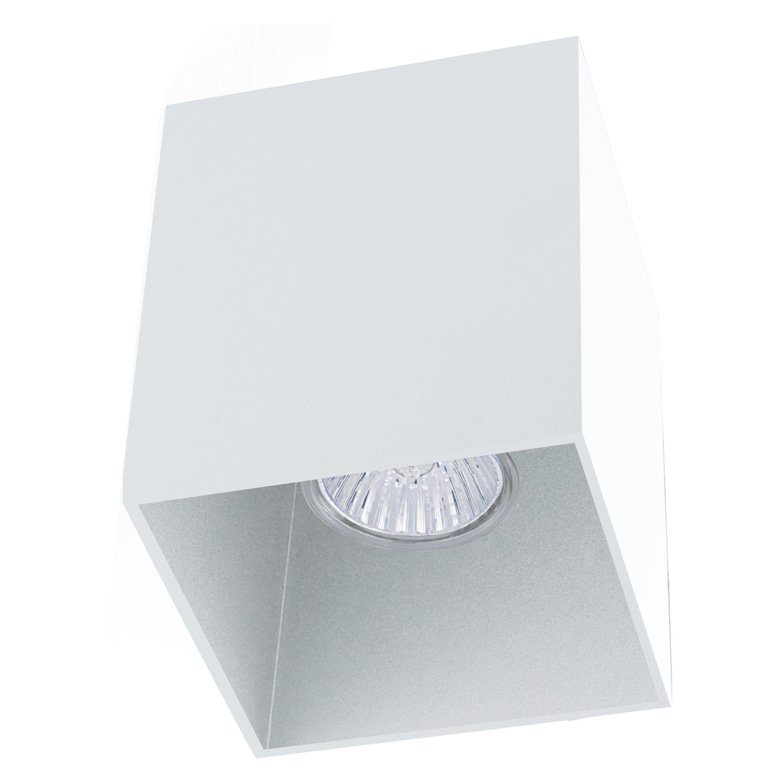 1 Stk Deckenleuchte Polasso eckig 35W weiß / silber IP20 LI62263---