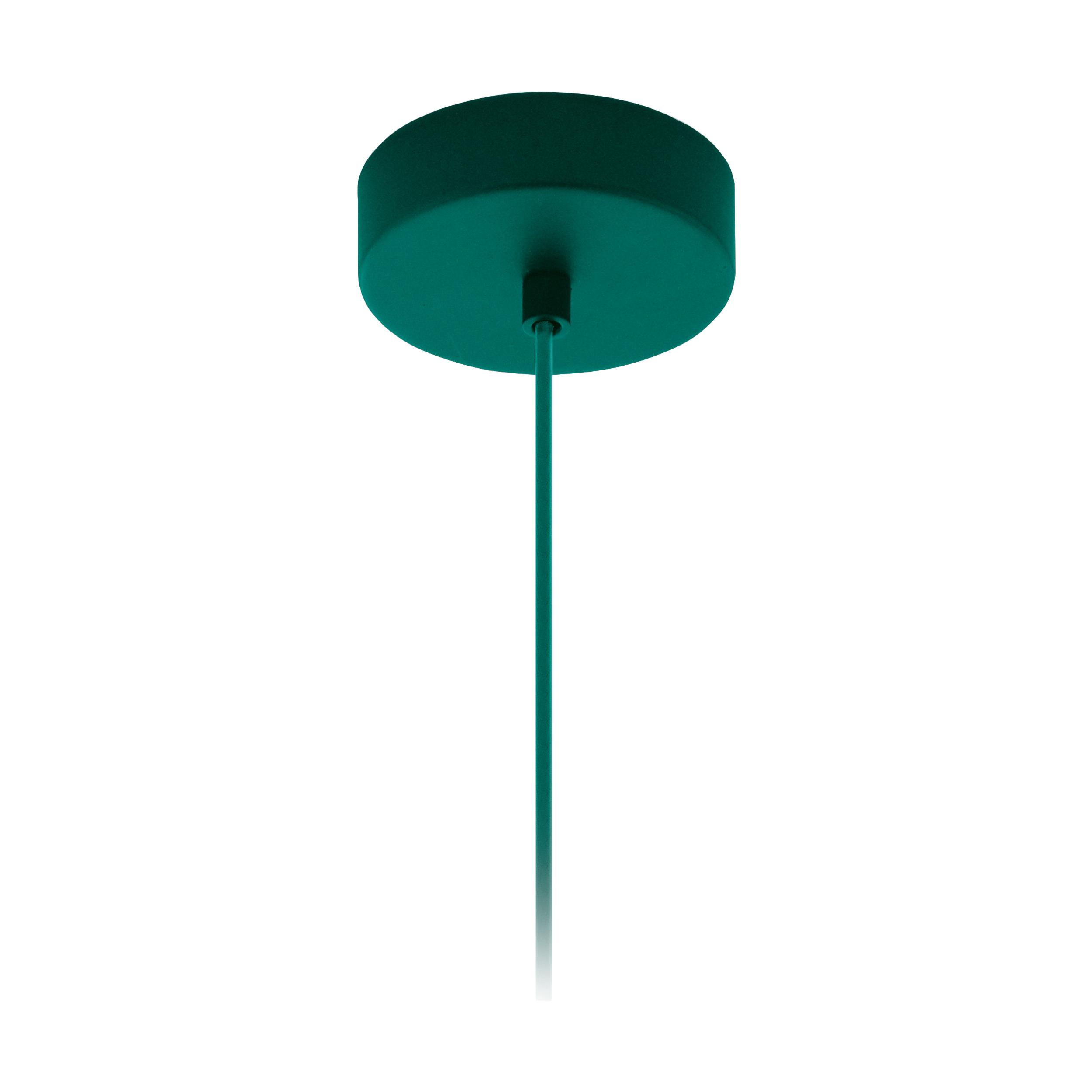 1 Stk Baldachin 1-fach, Aufbau opalgrün (RAL 6026)  LI62763---