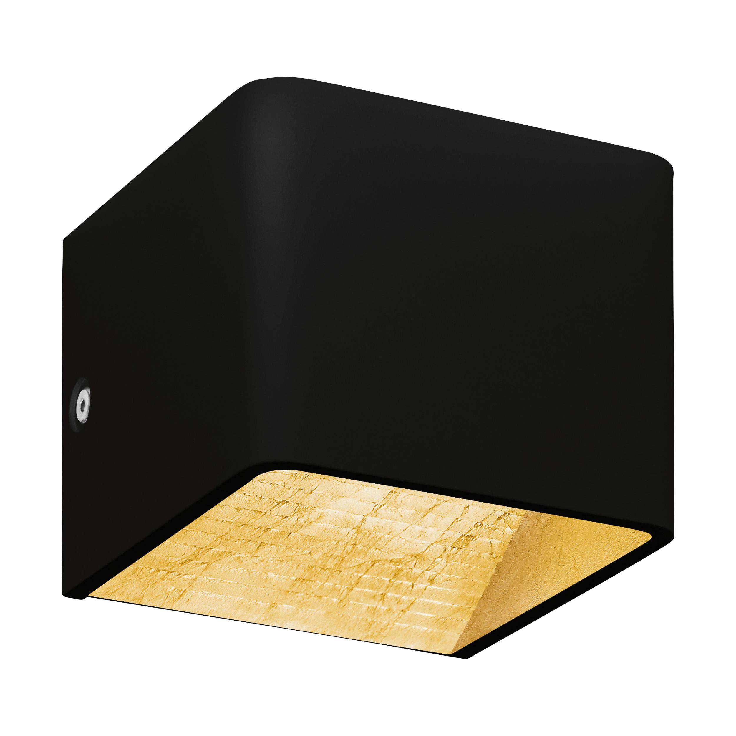 1 Stk Wandleuchte Sania 3 5W 3000K schwarz /blattvergoldet IP20 LI64549---