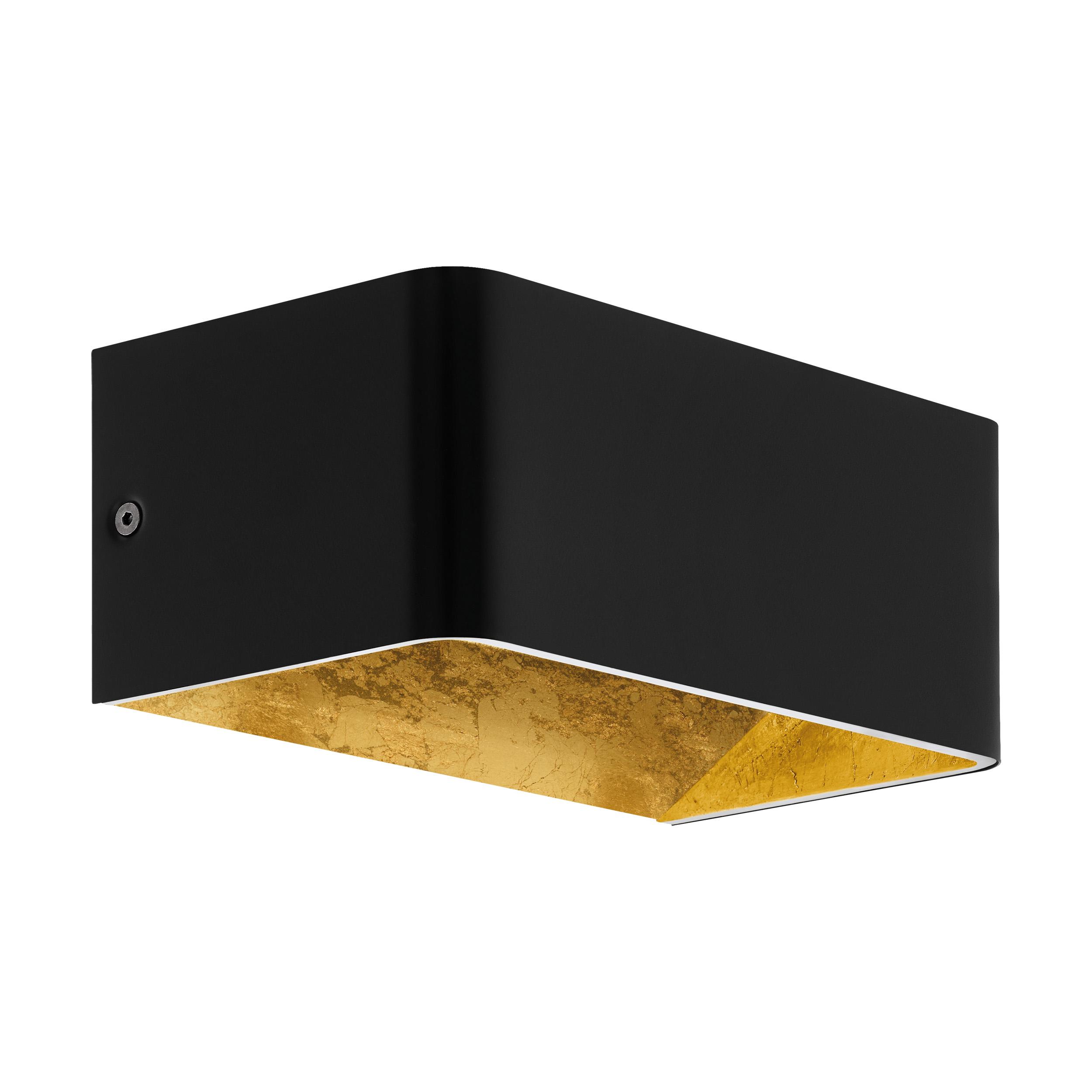 1 Stk Wandleuchte Sania 3 10W 3000K schwarz /blattvergoldet IP20 LI64559---