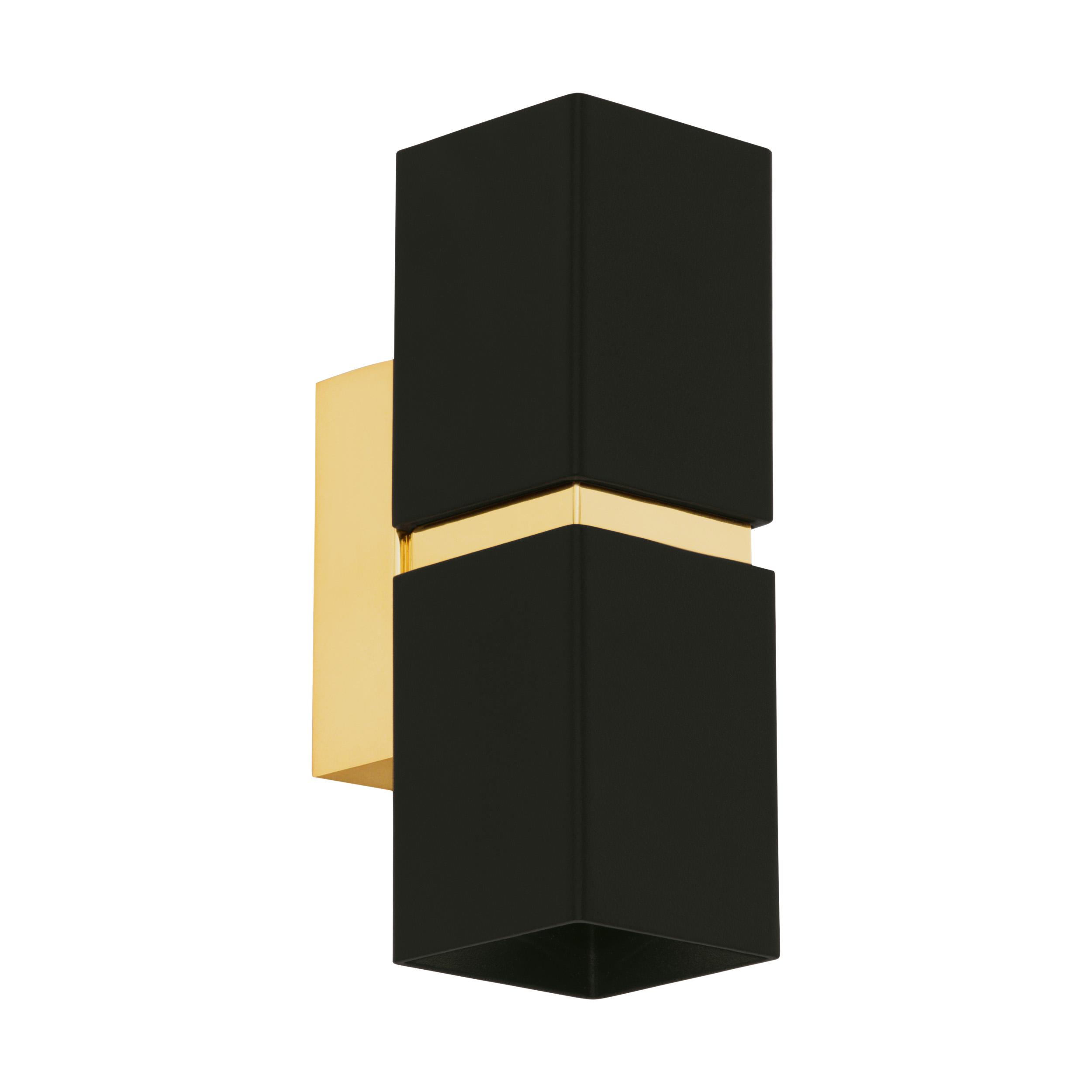 1 Stk Passa / eckig max. 35W 3000K schwarz, gold IP20 LI64798---