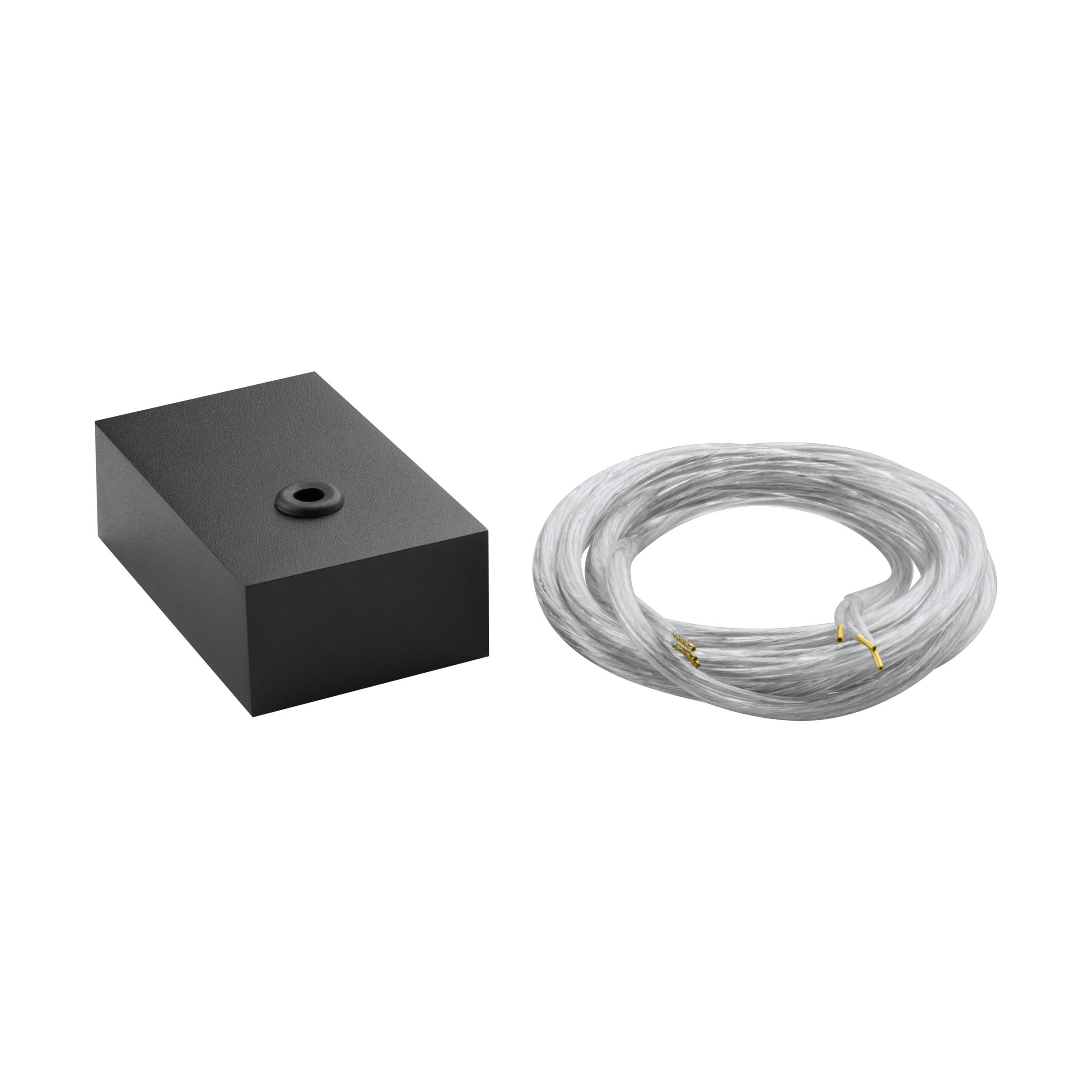 1 Stk Einspeisung 5 polig schwarz eloxiert IP20 LI65509---