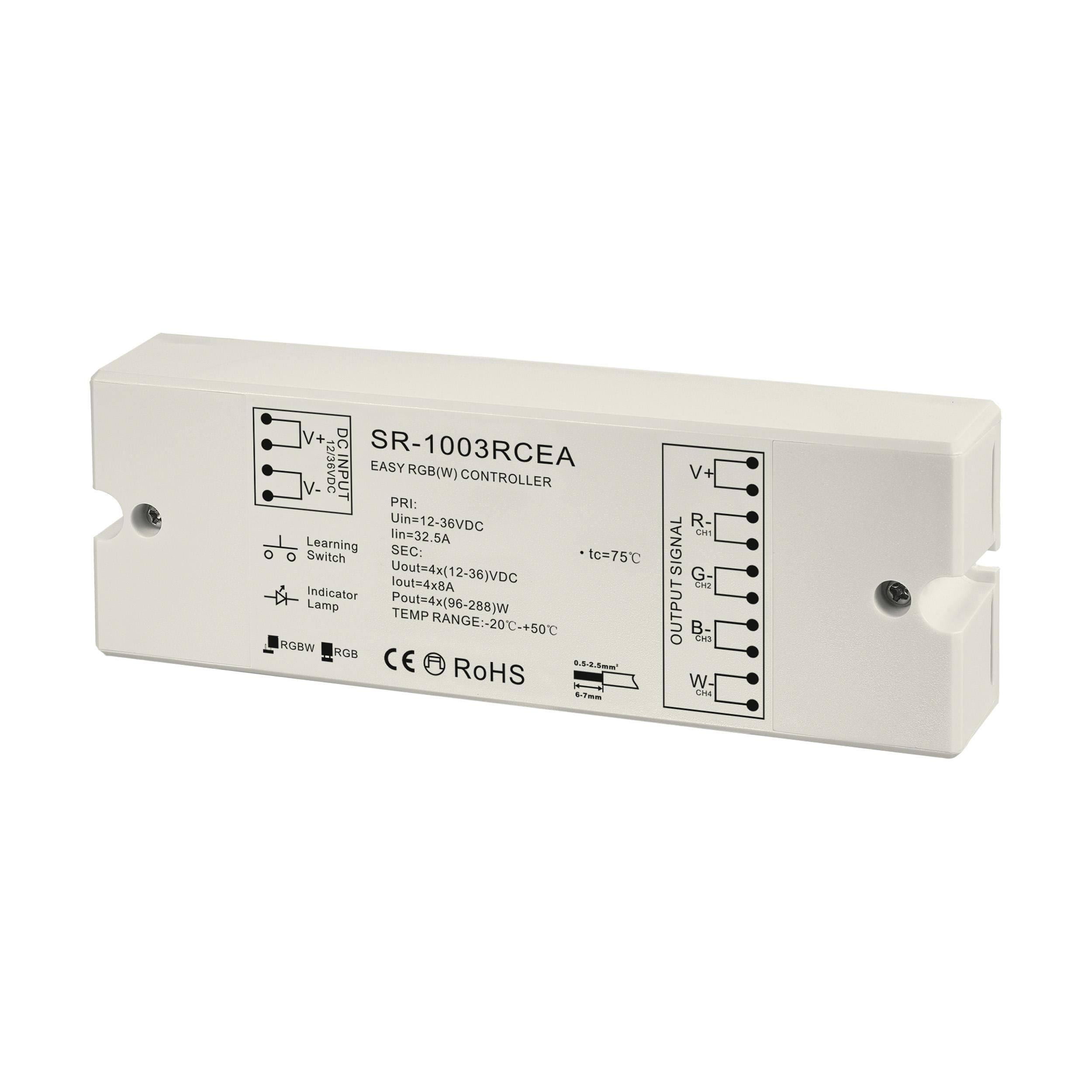 1 Stk LED RF Controller RGBW Empfänger 4x8A 768W 24V 768W IP20 LI66358---