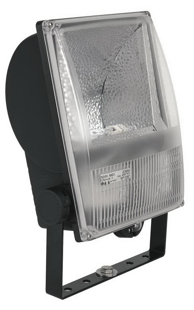 1 Stk Set 70W HIT-DE RX7s IP65 Scheinwerfer asymmetrisch, RAL9005 LI6S7013C4