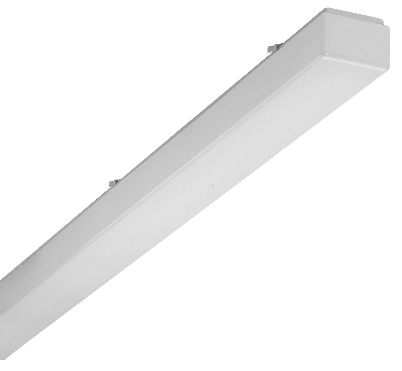 1 Stk AOTF-O T8 Wannenleuchte, 1x18W, EVG, IP50, acryl, opal, Weiß LI70301562