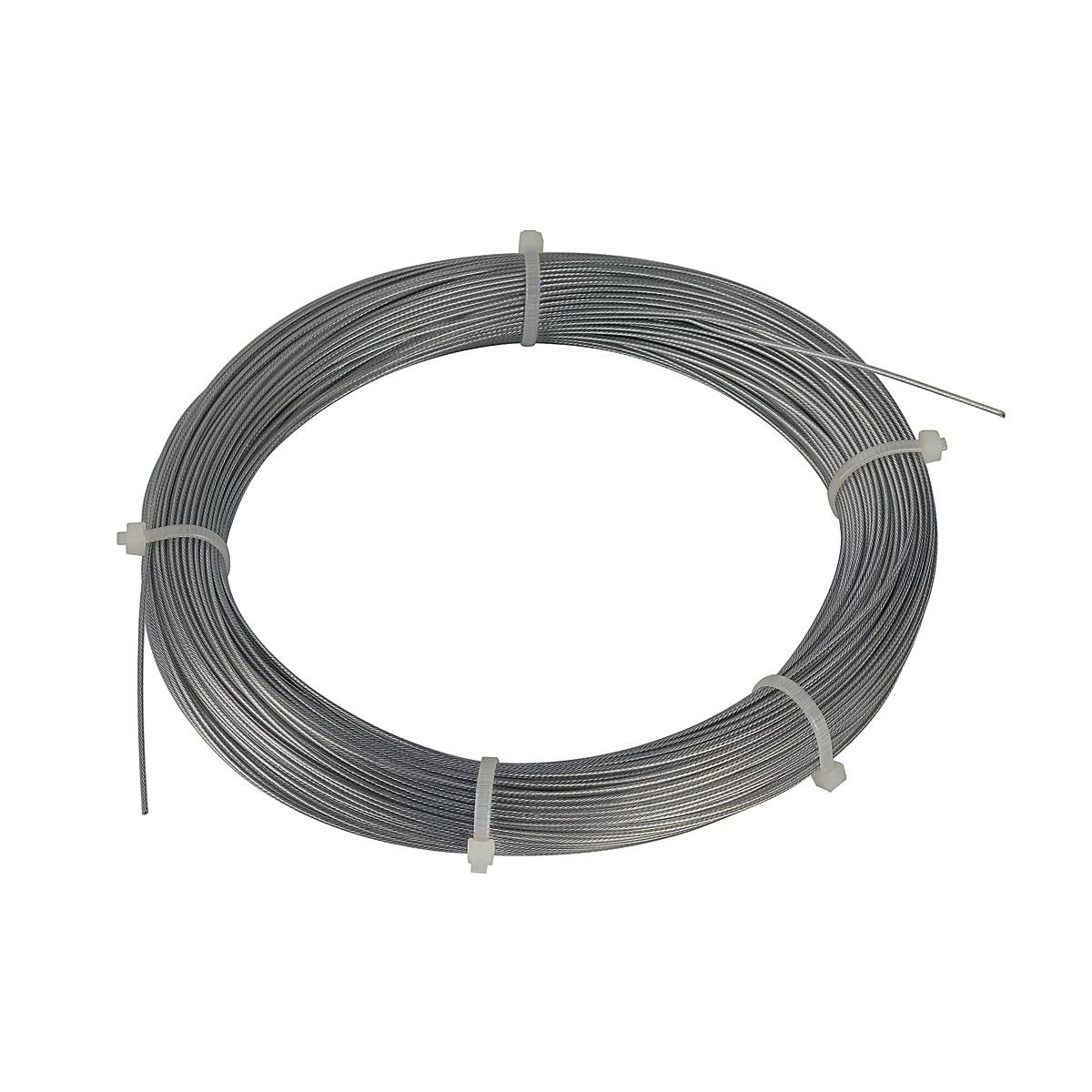 1 Stk Stahlseil 0,75mm mit PVC-Ummantelung, 100m Ringe, verzinkt LI961031--