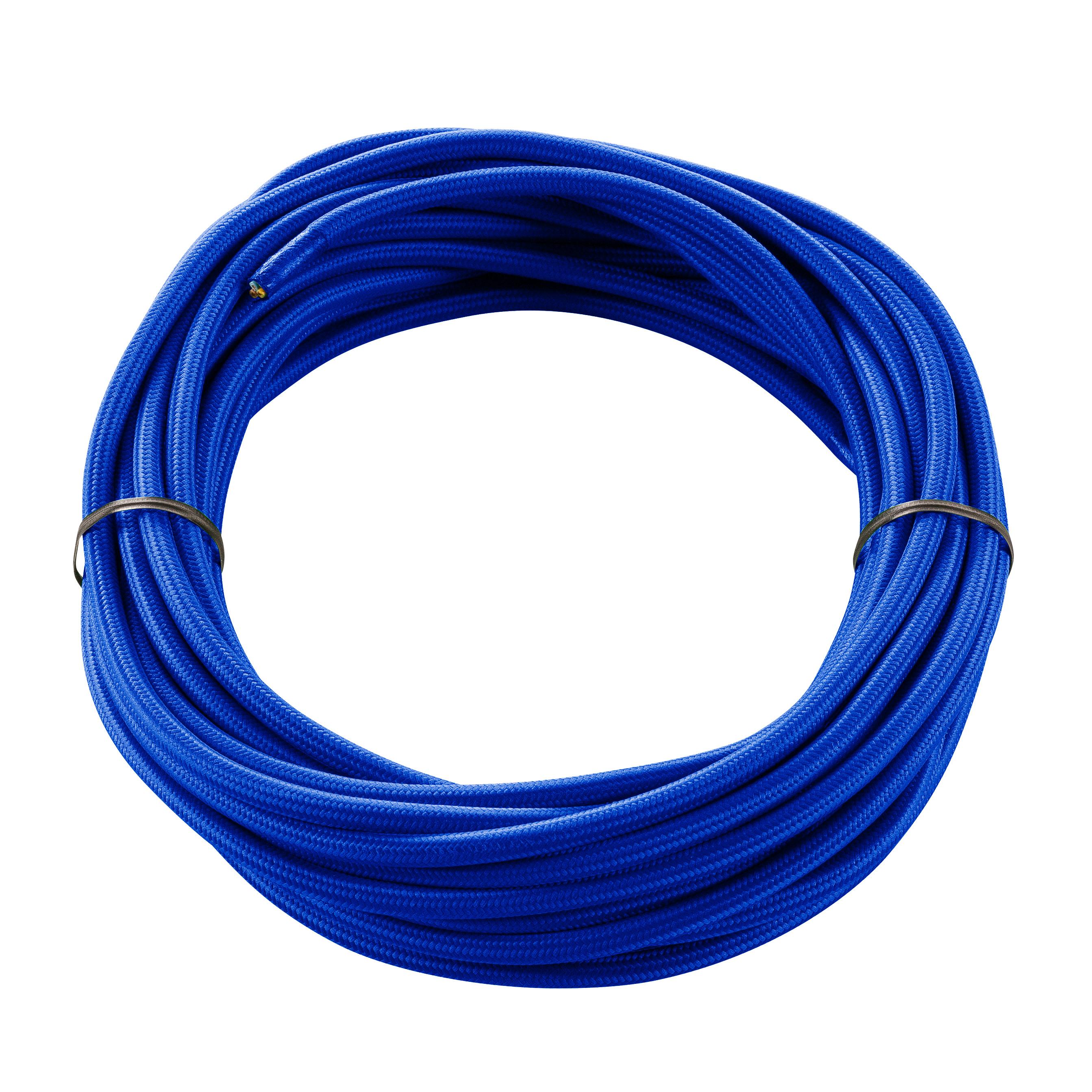 1 Stk TEXTILKABEL, 3-polig, 10 m, blau LI961273--