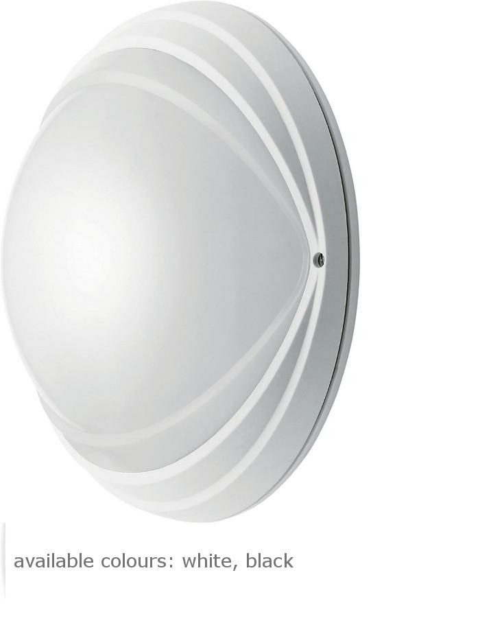 ALICA Round OP E27, max. 1x60W, IP54, schwarz