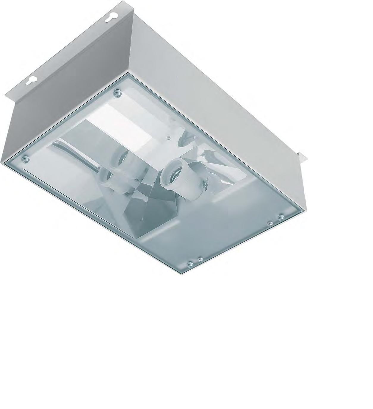 SBOX AB 1x400W, HS/HI, VVG, E40, IP65, RAL9003