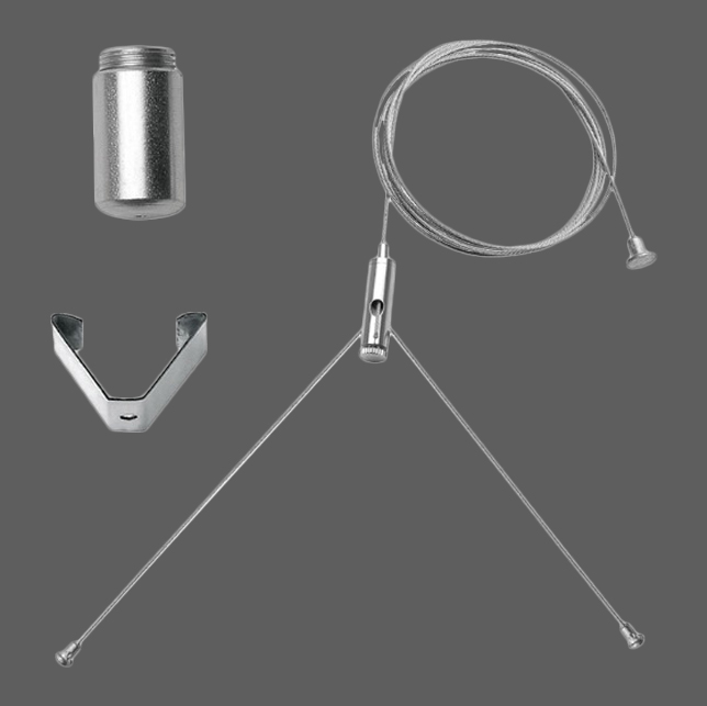 1 Stk Seilabhängung ohne Deckenrosette für SAR LED, weiß LI99001723