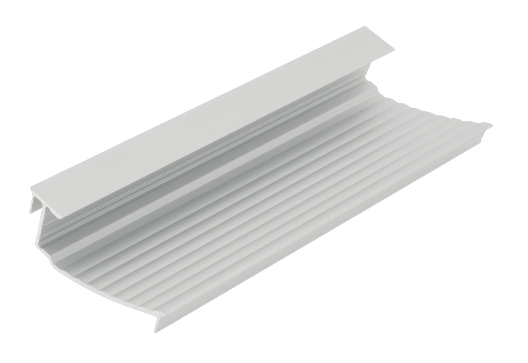 1 m Aluminium Profil SLW geriffelt / rippled LIAP003200
