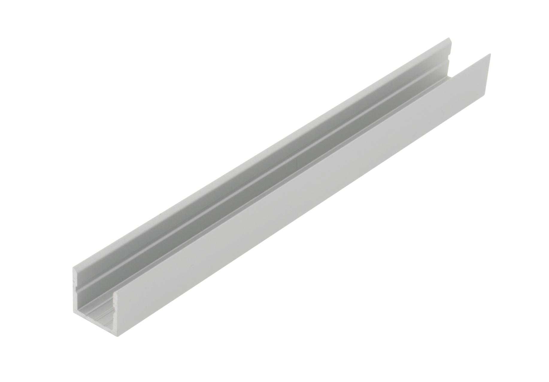 1 m Aluminiumprofil KLR, L-2000mm B-14mm H-13mm LIAP008001