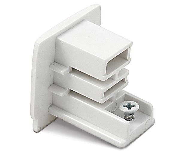 1 Stk 3PH-Endkappe, weiß LID10867--