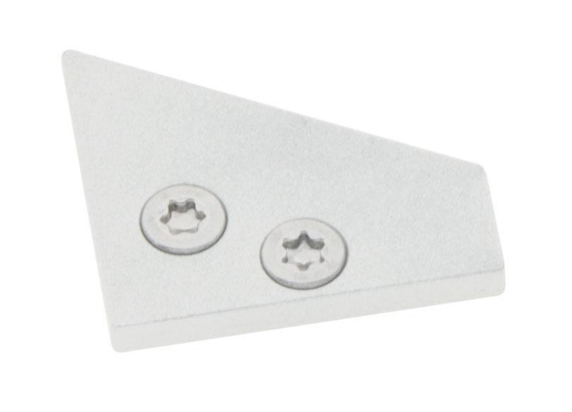 1 Stk Profil Endkappe LBE 30/60 Flach geschlossen inkl. Schrauben LIEK001800