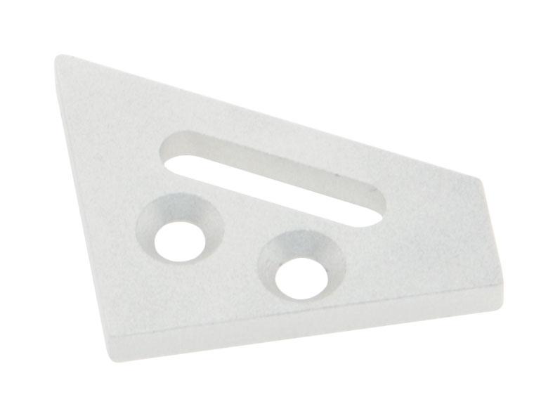 1 Stk Profil Endkappe LBE 30/60 Flach mit Langloch inkl. Schrauben LIEK001801