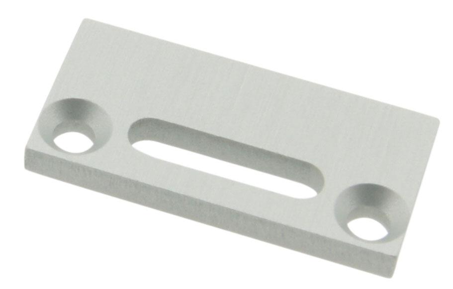 1 Stk Profil Endkappe TBF Flach mit Langloch LIEK002101