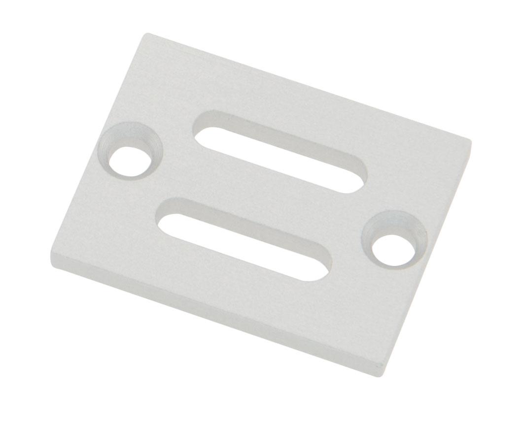 1 Stk Profil Endkappe TBH Flach mit Langloch inkl. Schrauben LIEK002701