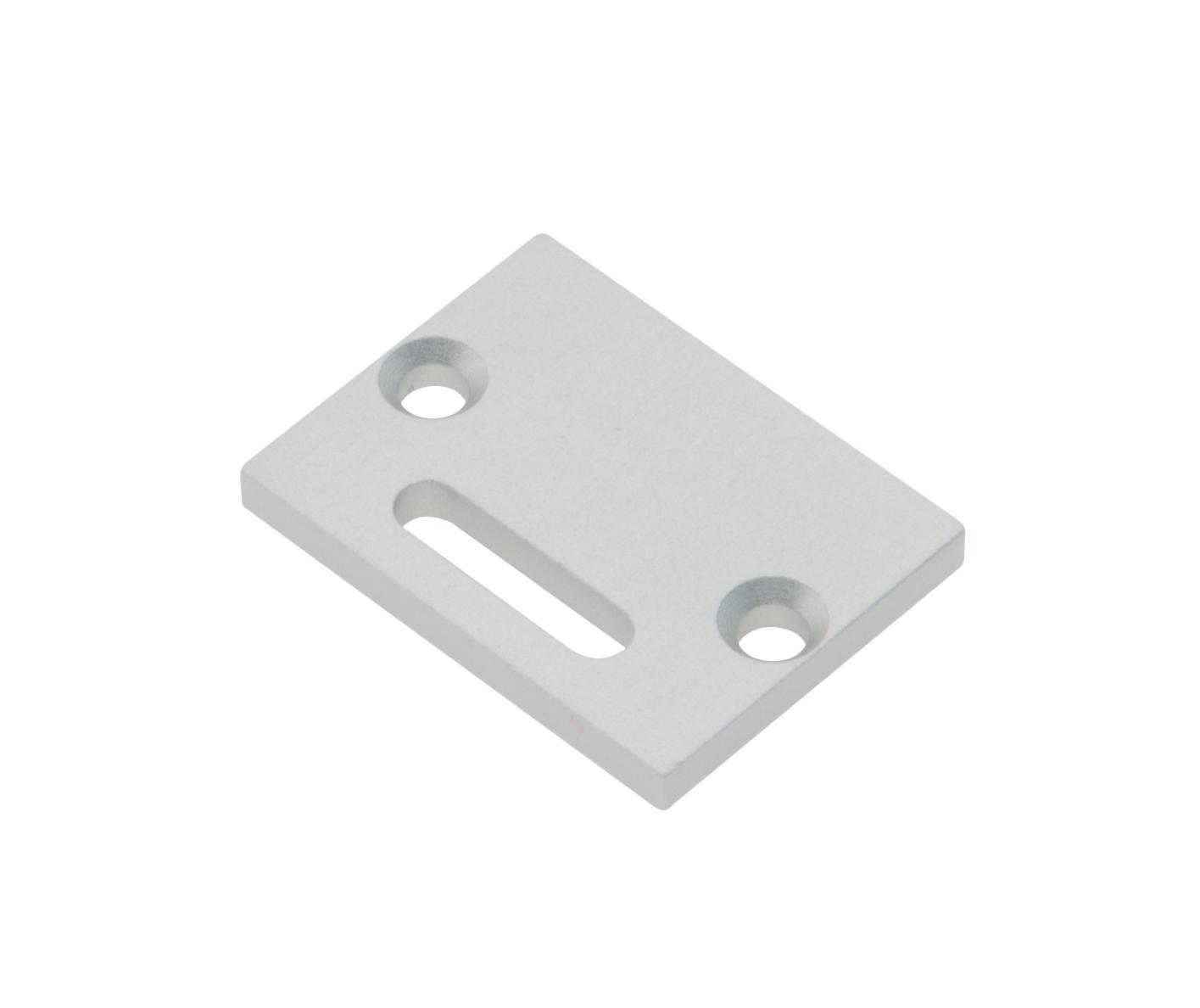 1 Stk Profil Endkappe TBL Flach mit Langloch inkl. Schrauben LIEK002801