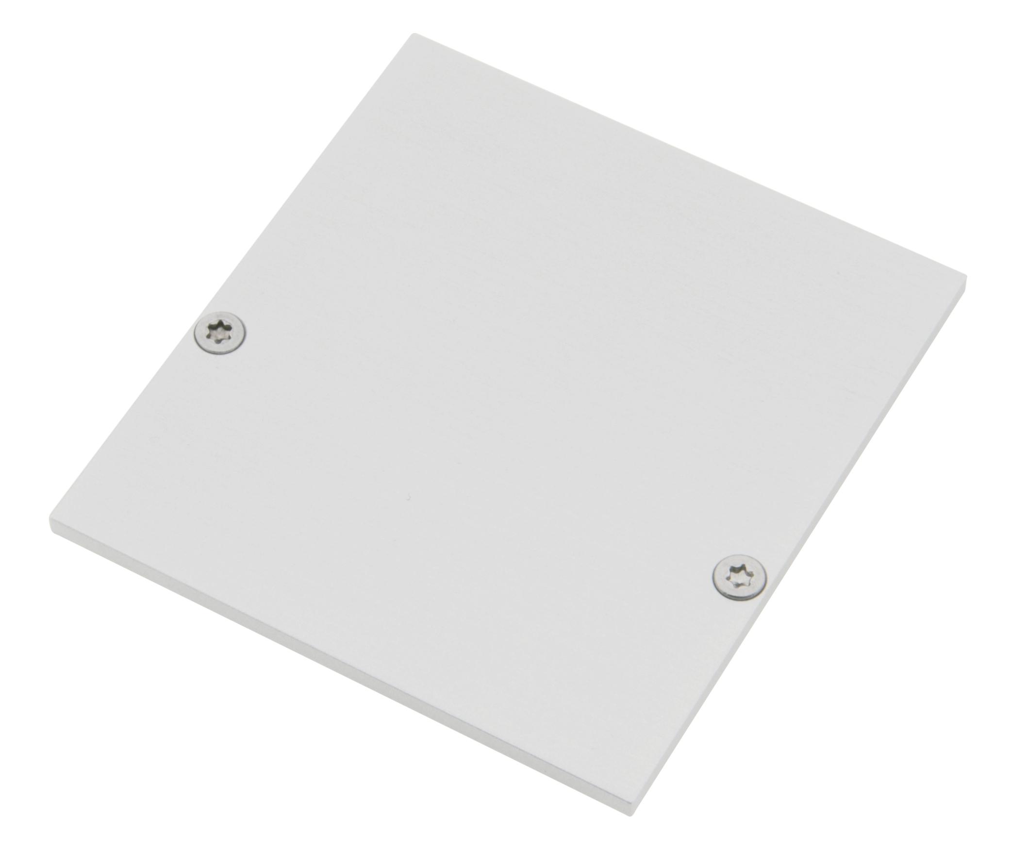1 Stk Profil Endkappe SLR Eckig geschlossen inkl. Schrauben LIEK003120