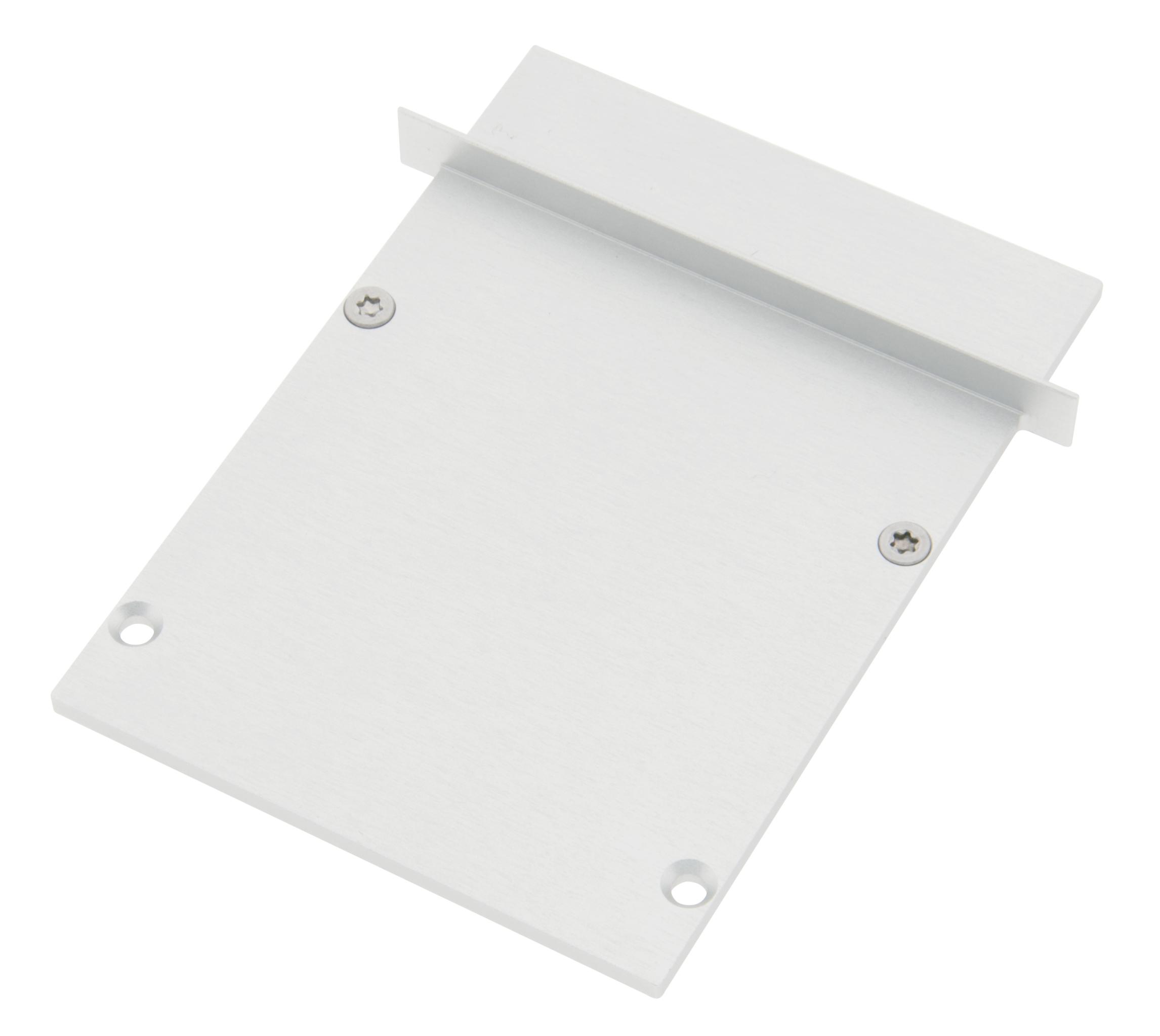 1 Stk Profil Endkappe SLT Eckig geschlossen inkl. Schrauben LIEK003520