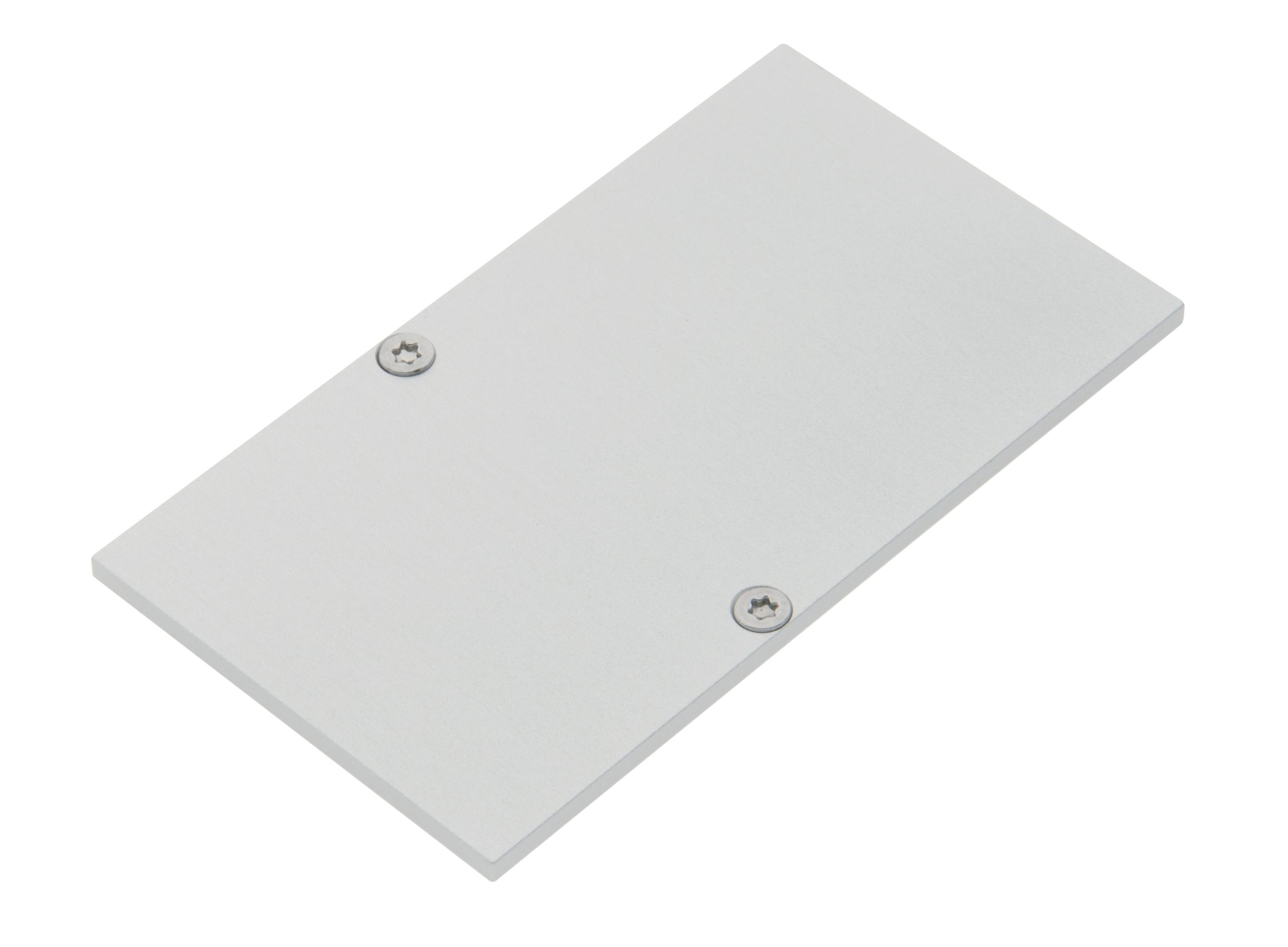 1 Stk Profil Endkappe MFH Eckig geschlossen inkl. Schrauben LIEK005220