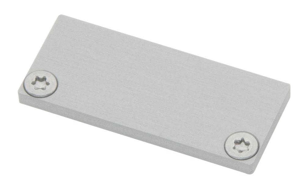 1 Stk Profil Endkappe CLF Flach geschlossen inkl. Schrauben LIEK006100