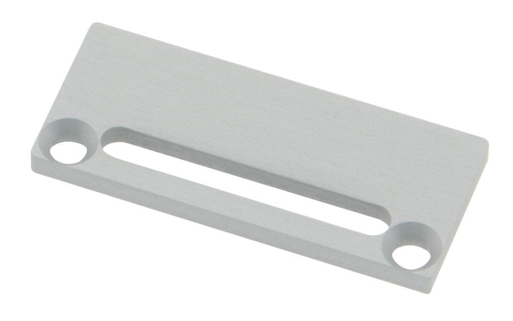 1 Stk Profil Endkappe CLF Flach mit Langloch inkl. Schrauben LIEK006101