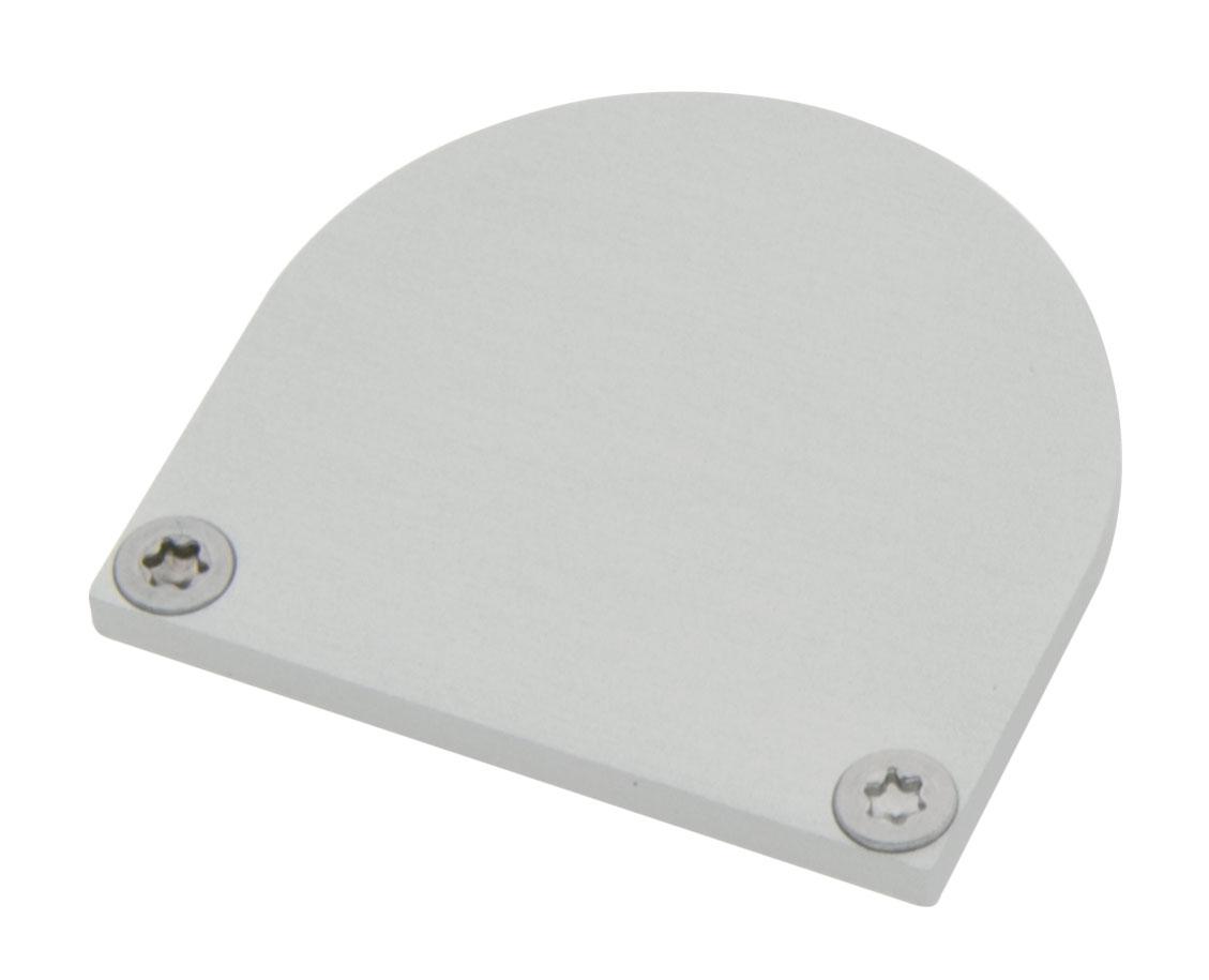 1 Stk Profil Endkappe CLF Rund geschlossen inkl. Schrauben LIEK006110
