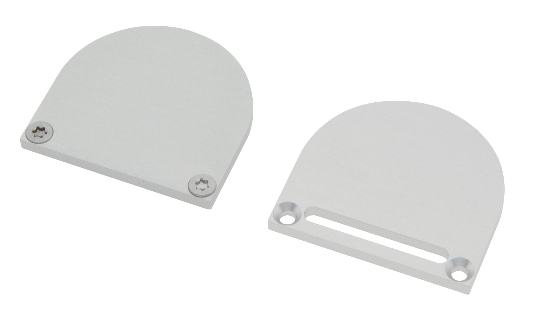 1 Stk Profil Endkappe CLF Rund mit Langloch inkl. Schrauben LIEK006111